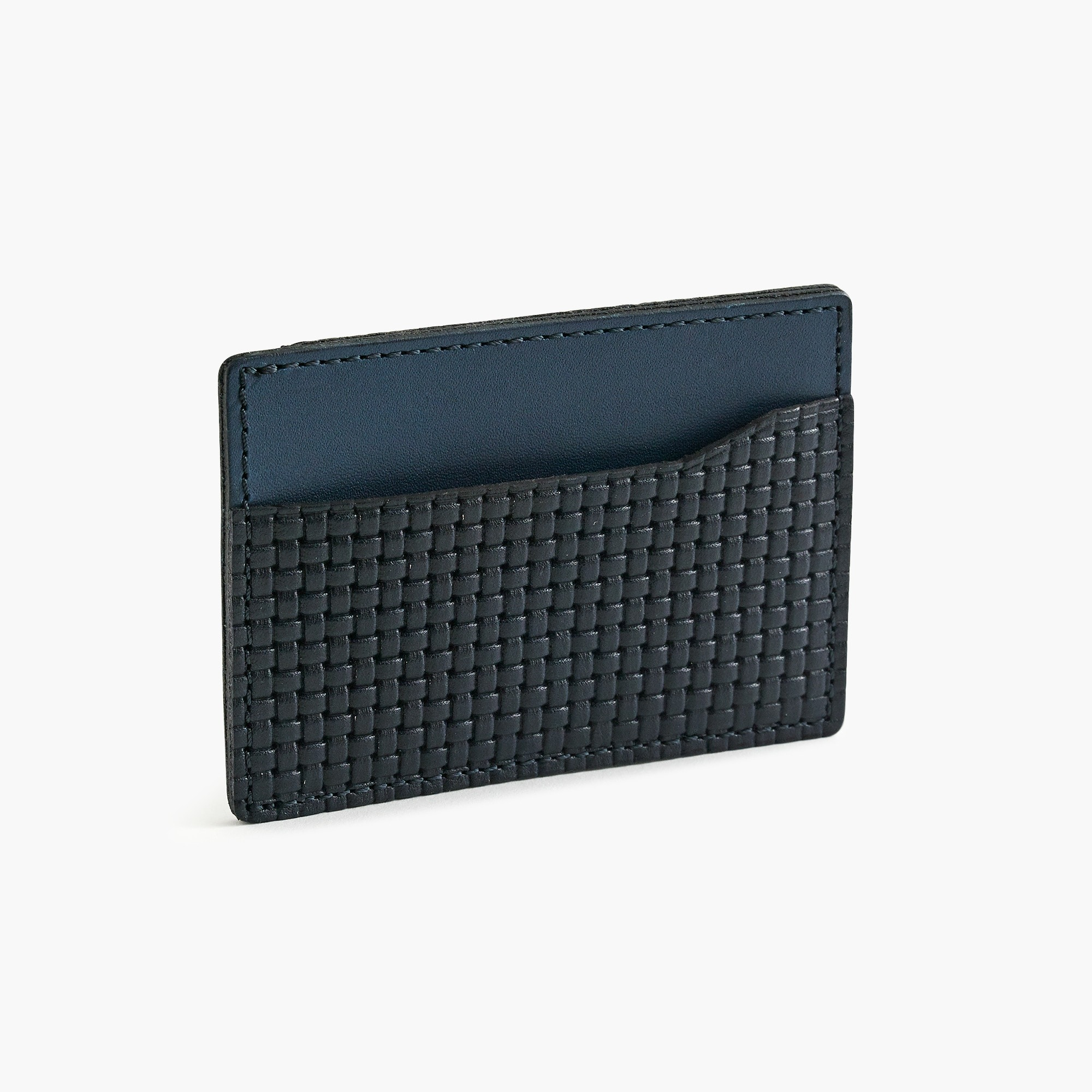 mens Card case in woven Italian leather