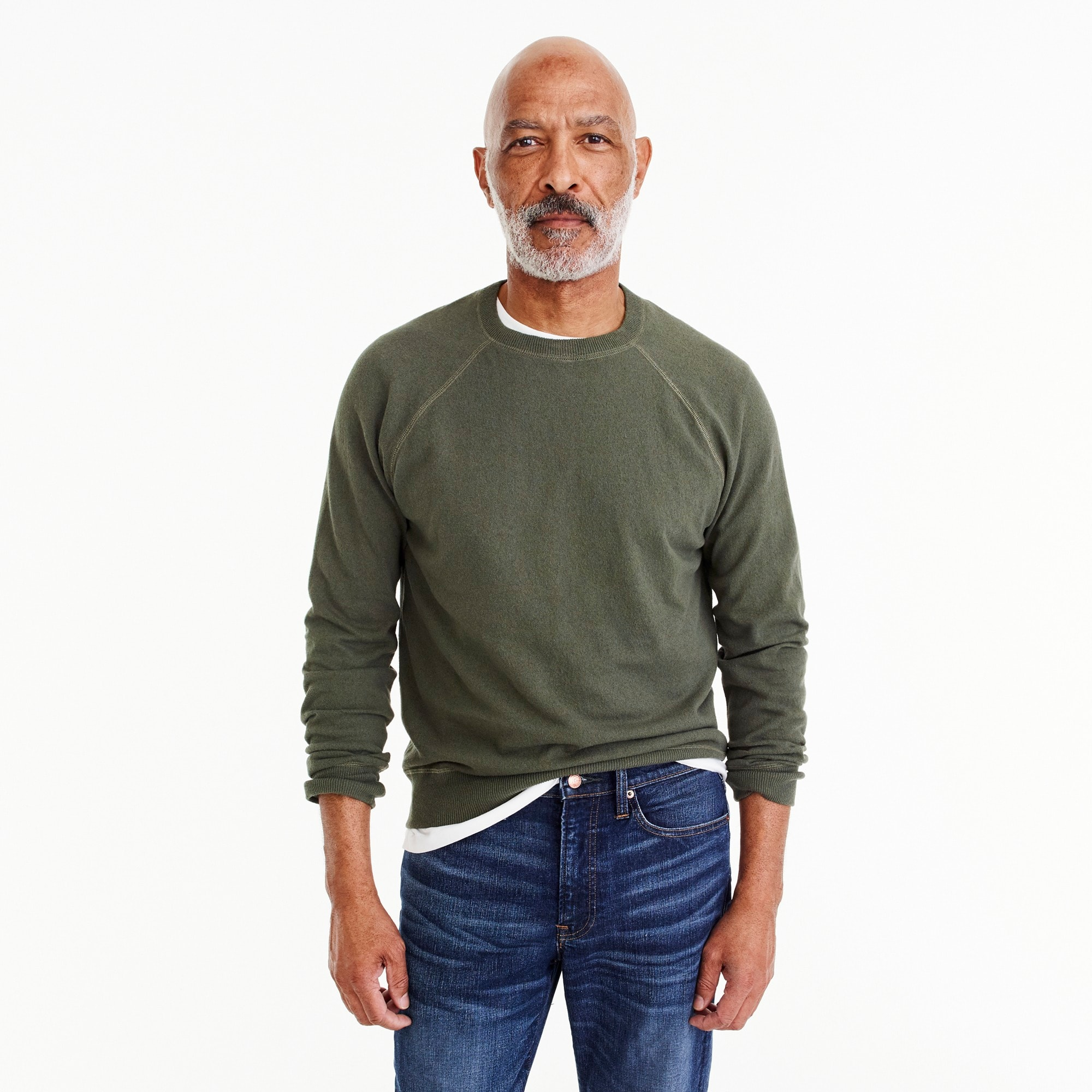 mens Crewneck cotton field sweater