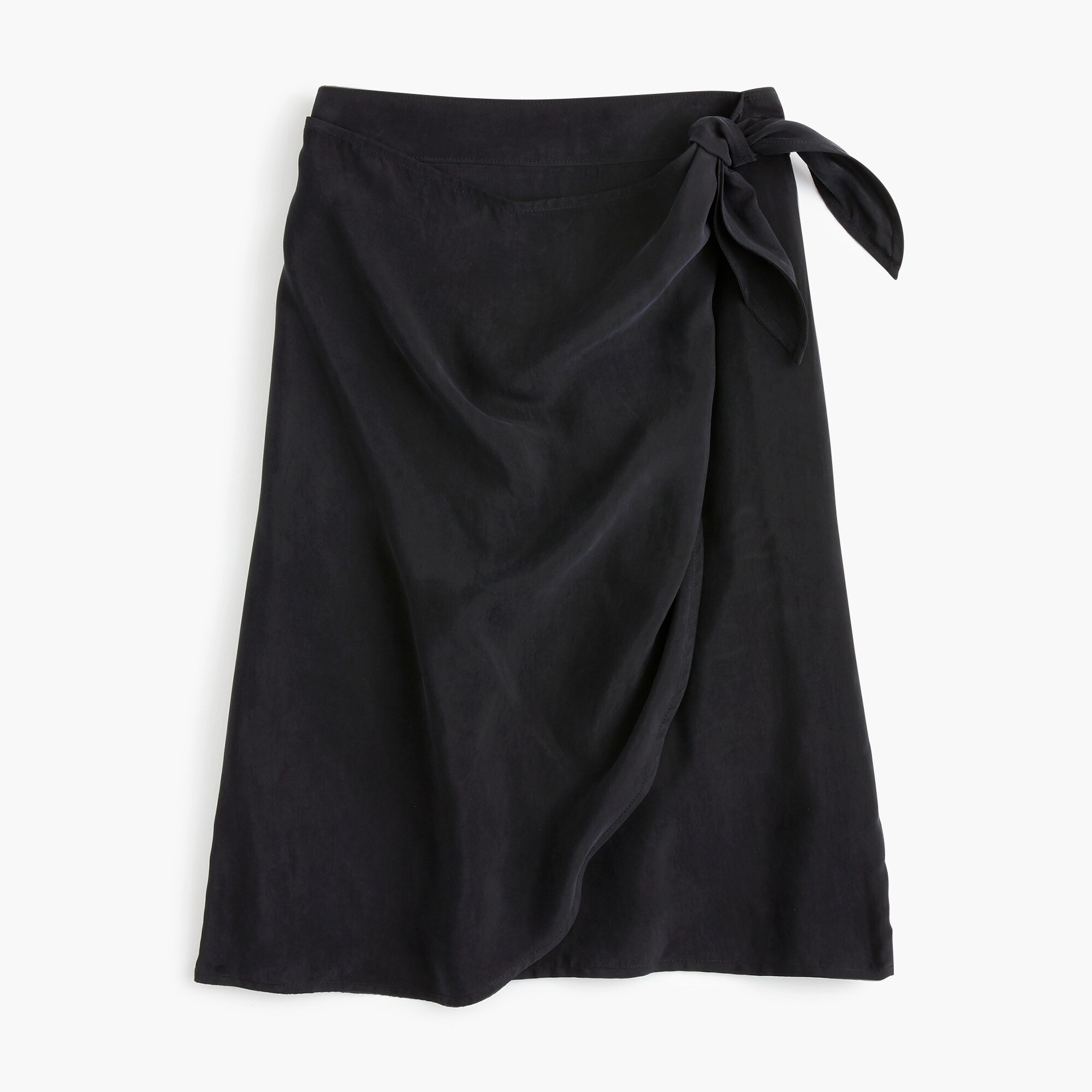 women's petite wrap skirt in japanese cupro - women's skirts
