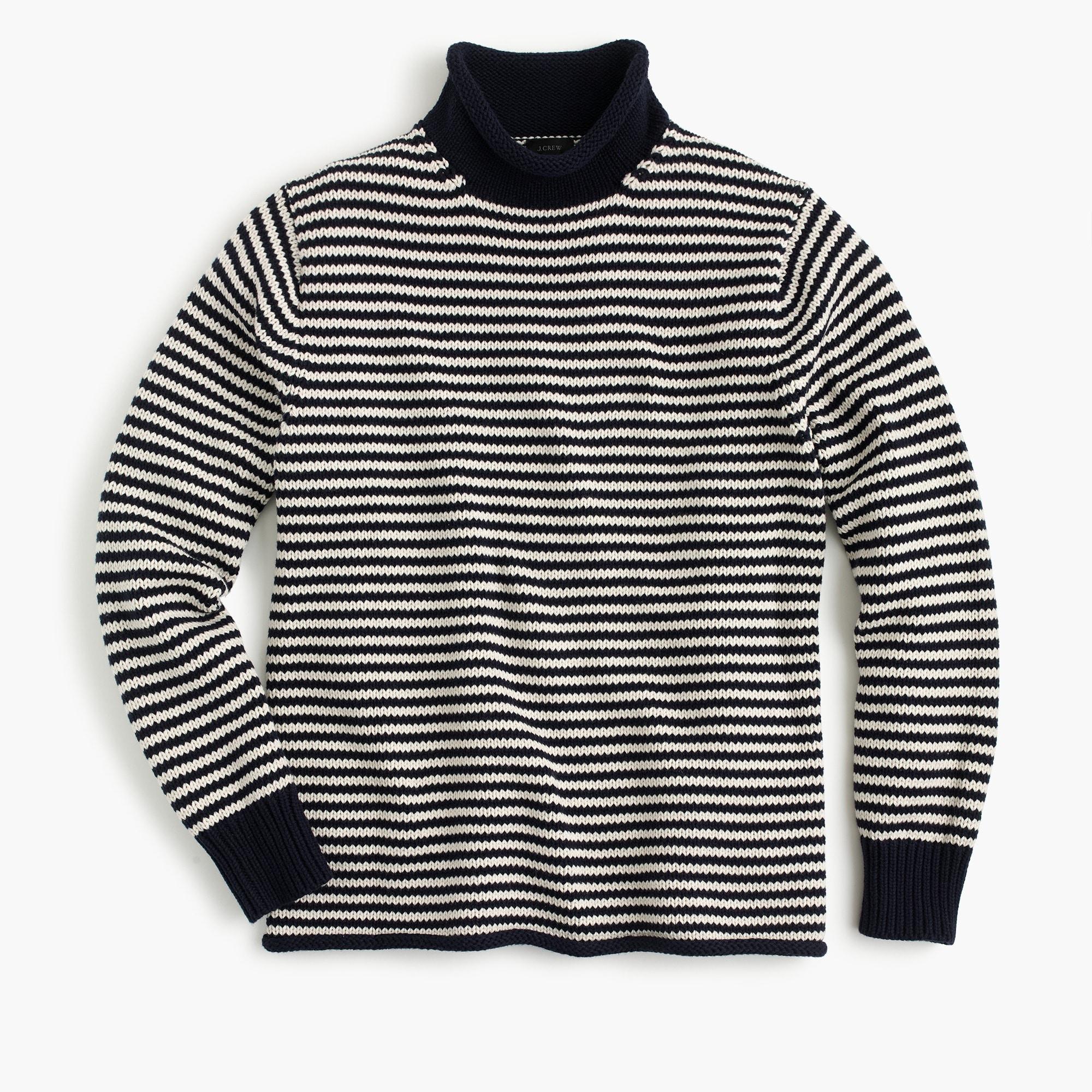 Unisex 1988 cotton rollneck™ sweater in stripe   sale