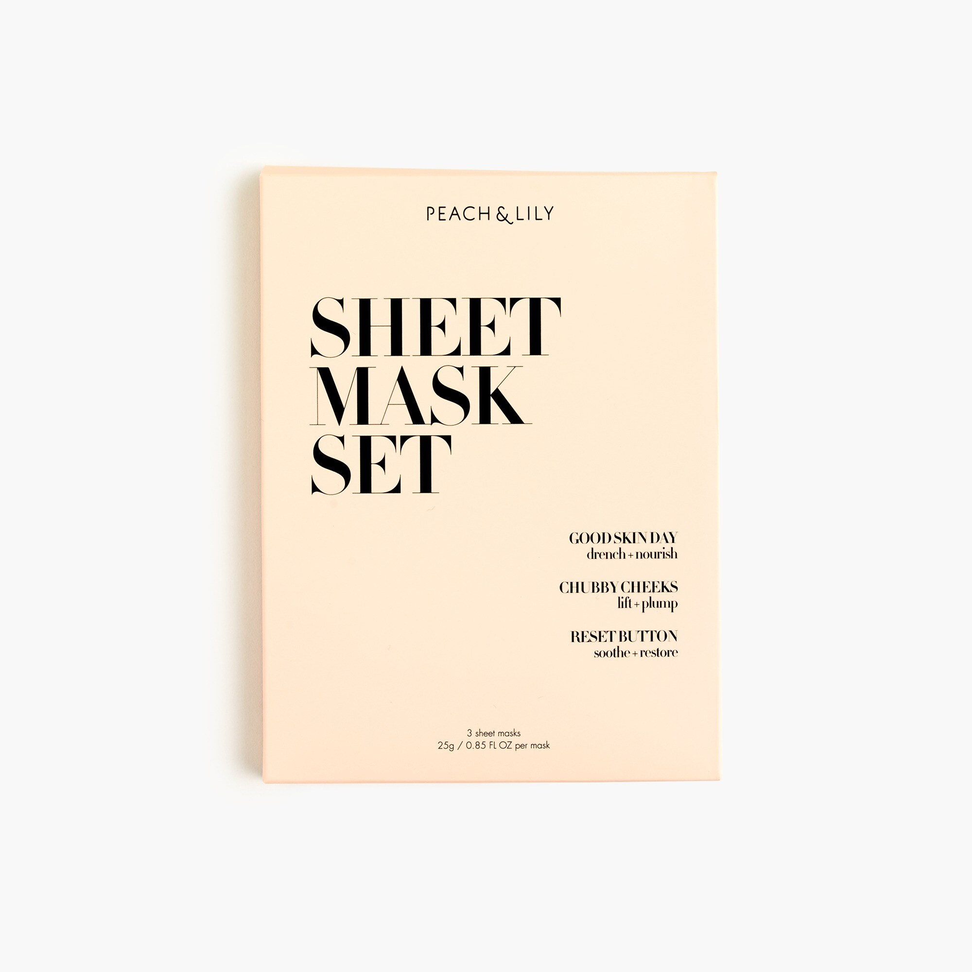 Peach & Lily Dream Sheet Mask set women j.crew in good company c