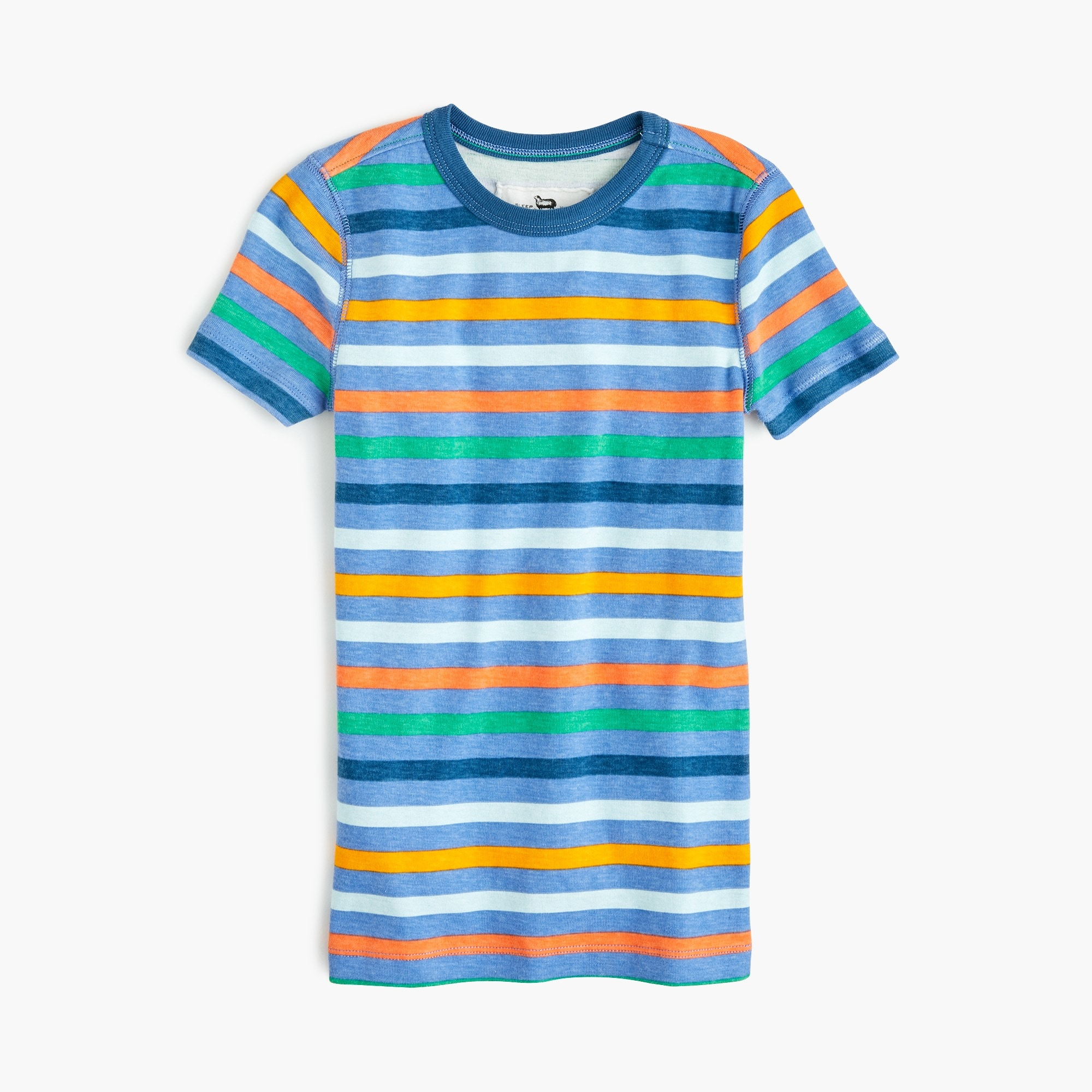 Kids' short-sleeve pajama set in blue stripe