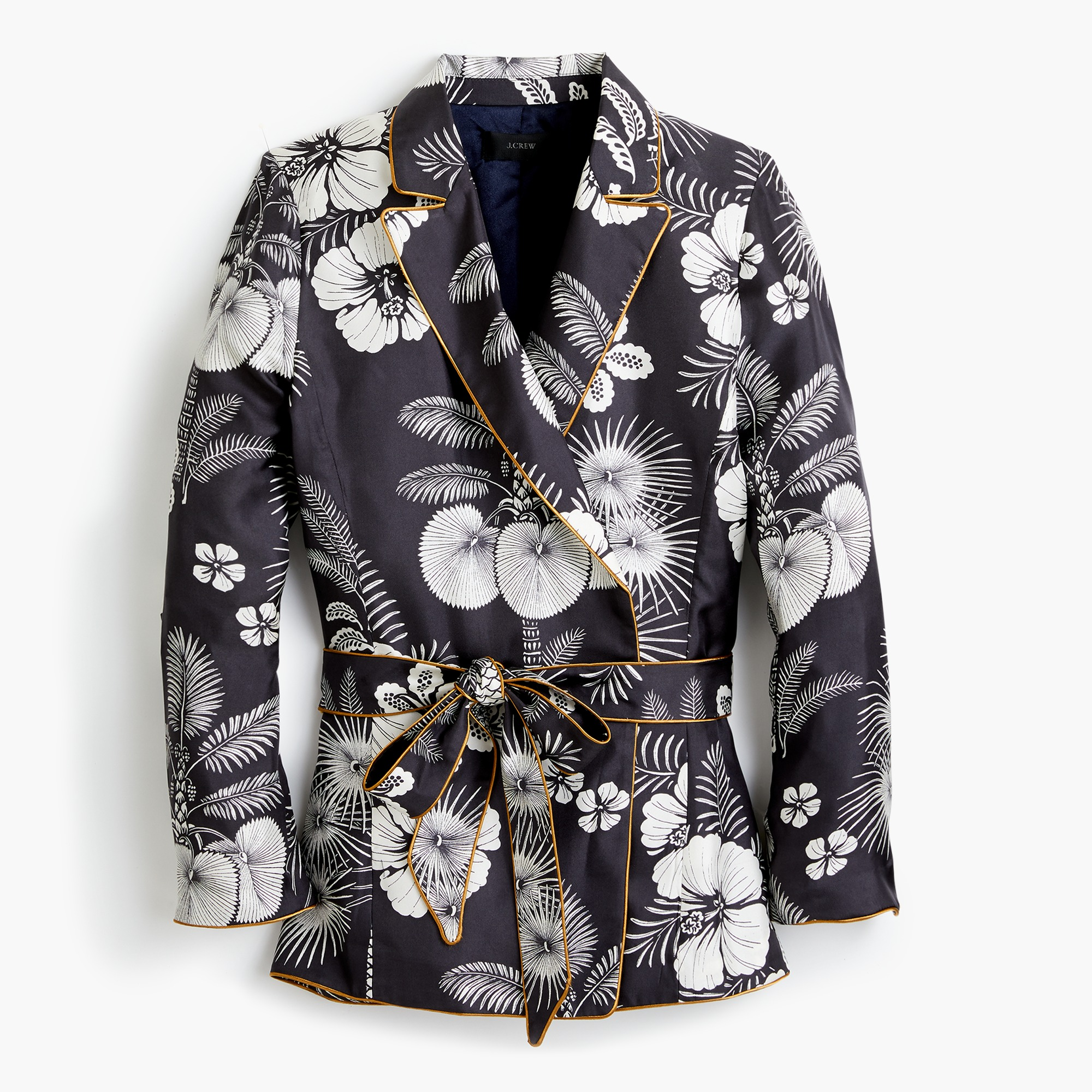Image 2 for Silk wrap blazer in island floral
