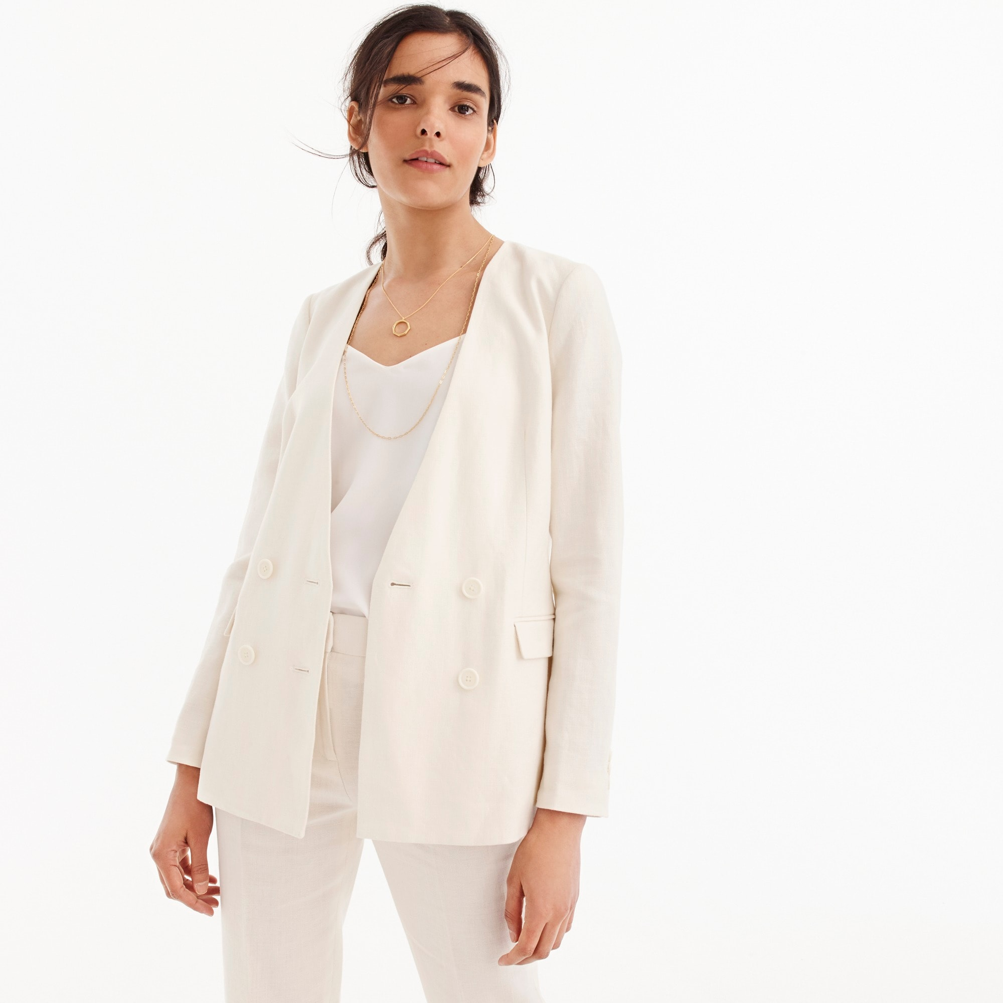 French girl blazer in linen women suiting c