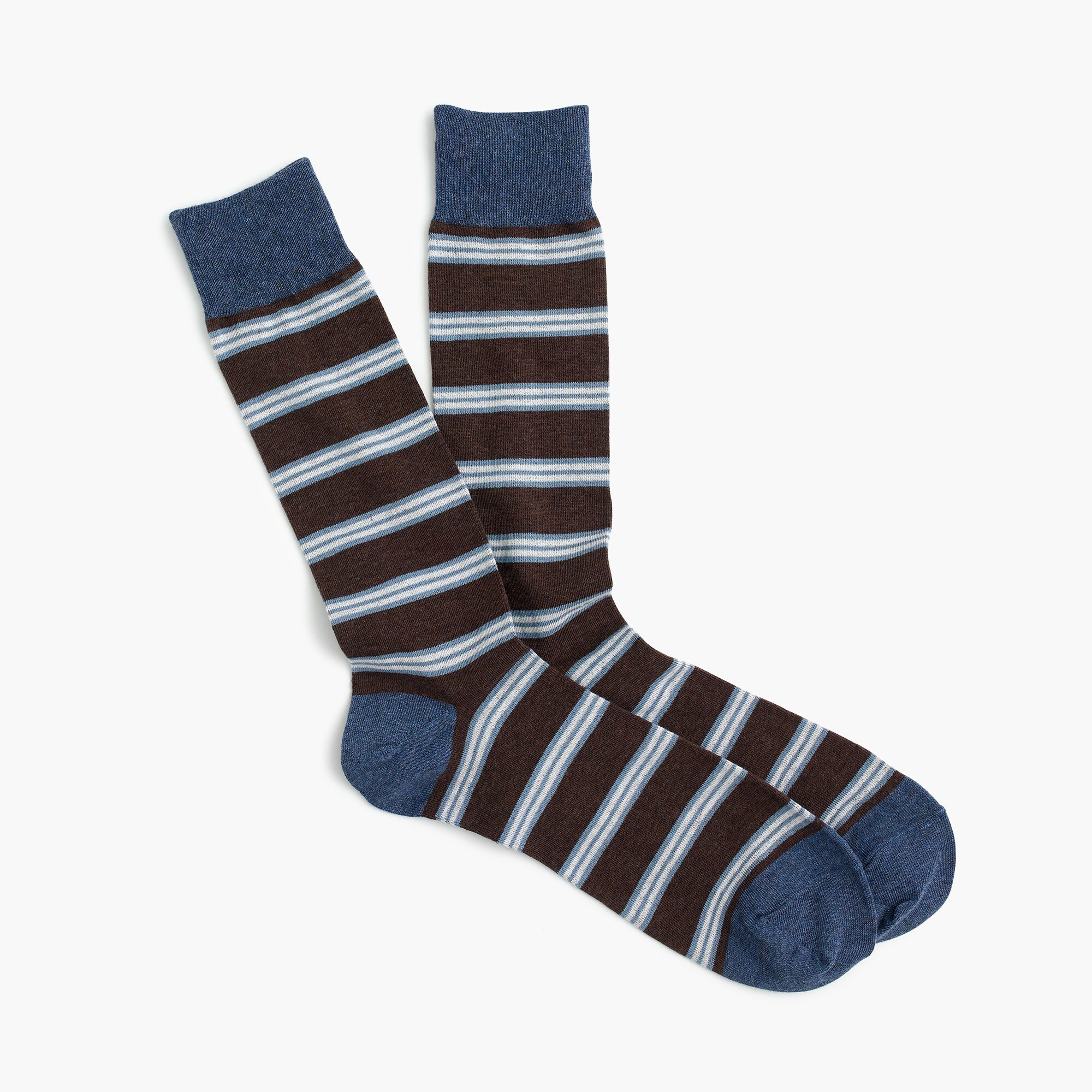 mens Brown striped socks