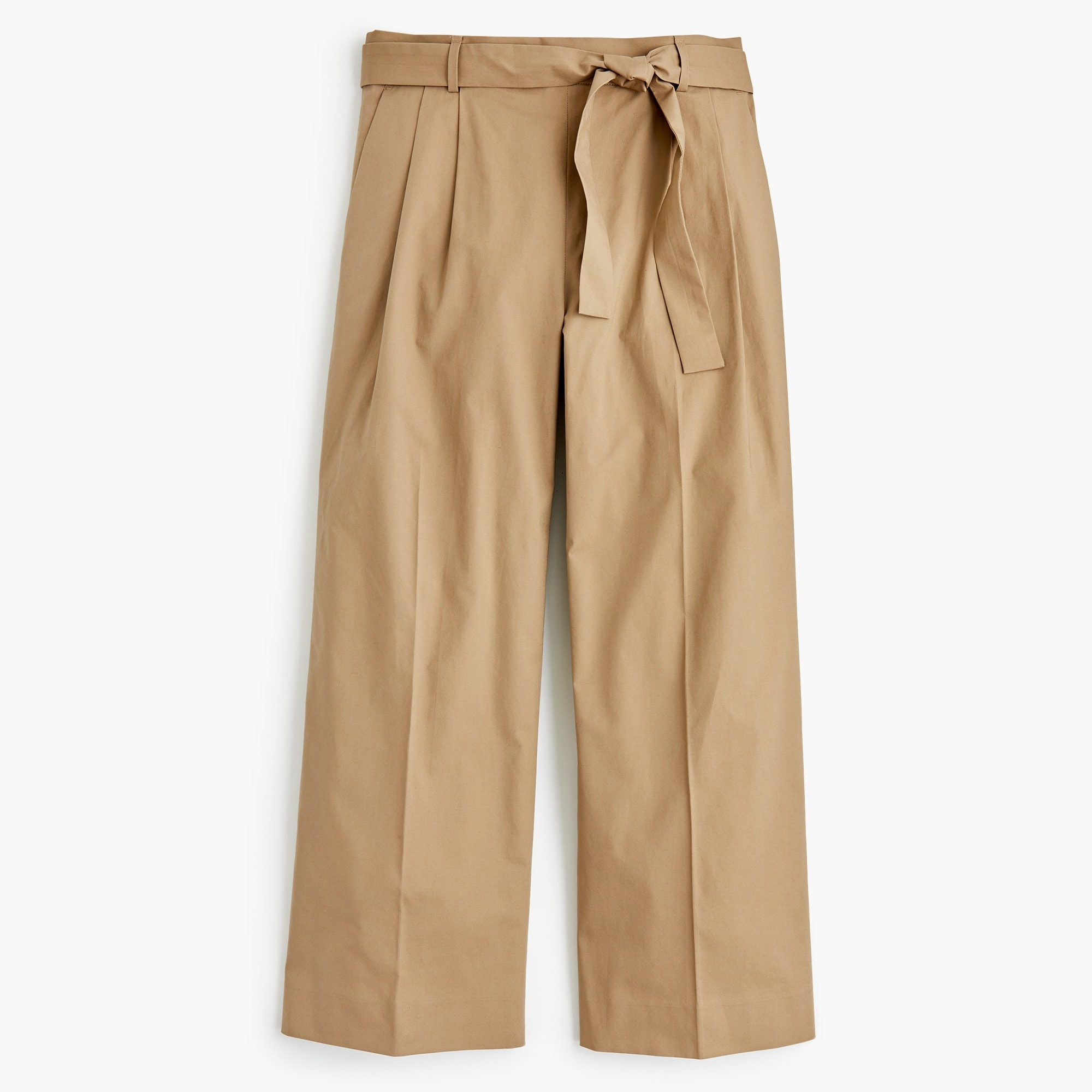 Image 4 for Tall wide-leg cropped pant in cotton-poplin