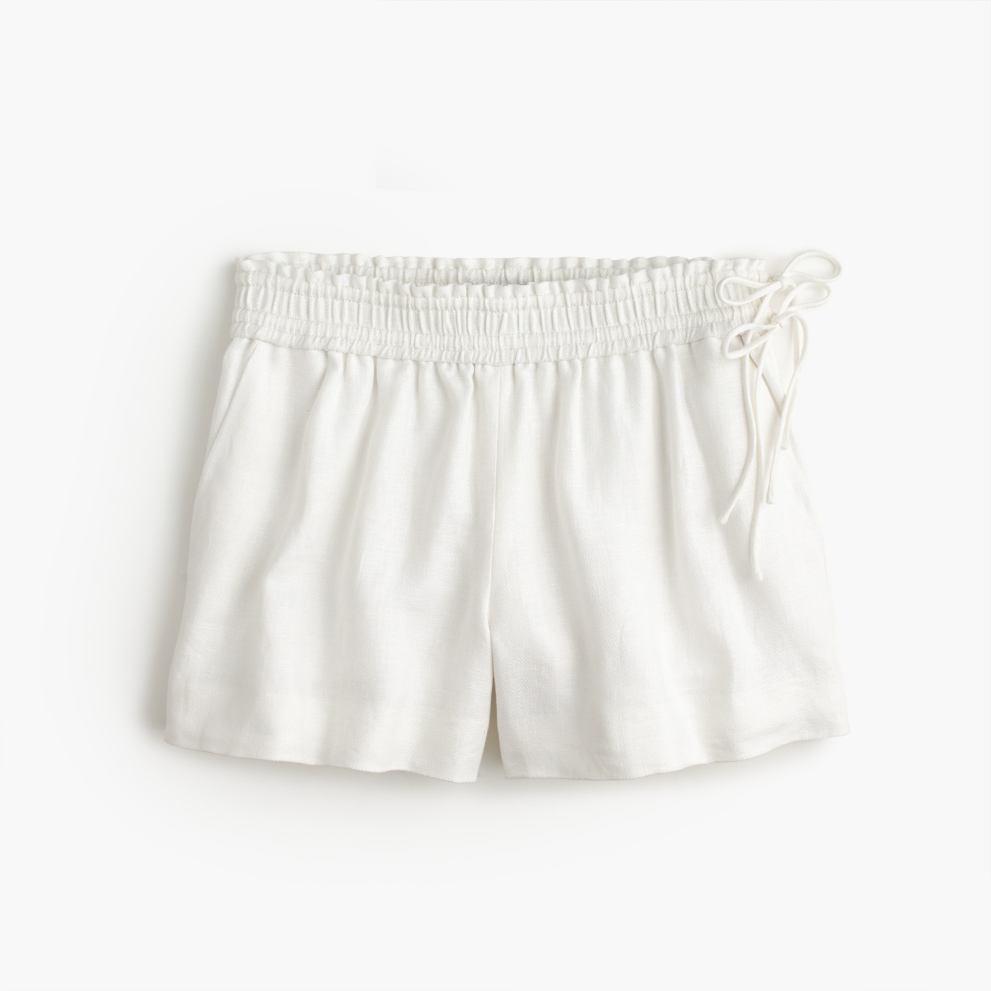 women's linen short with side ties - women's shorts