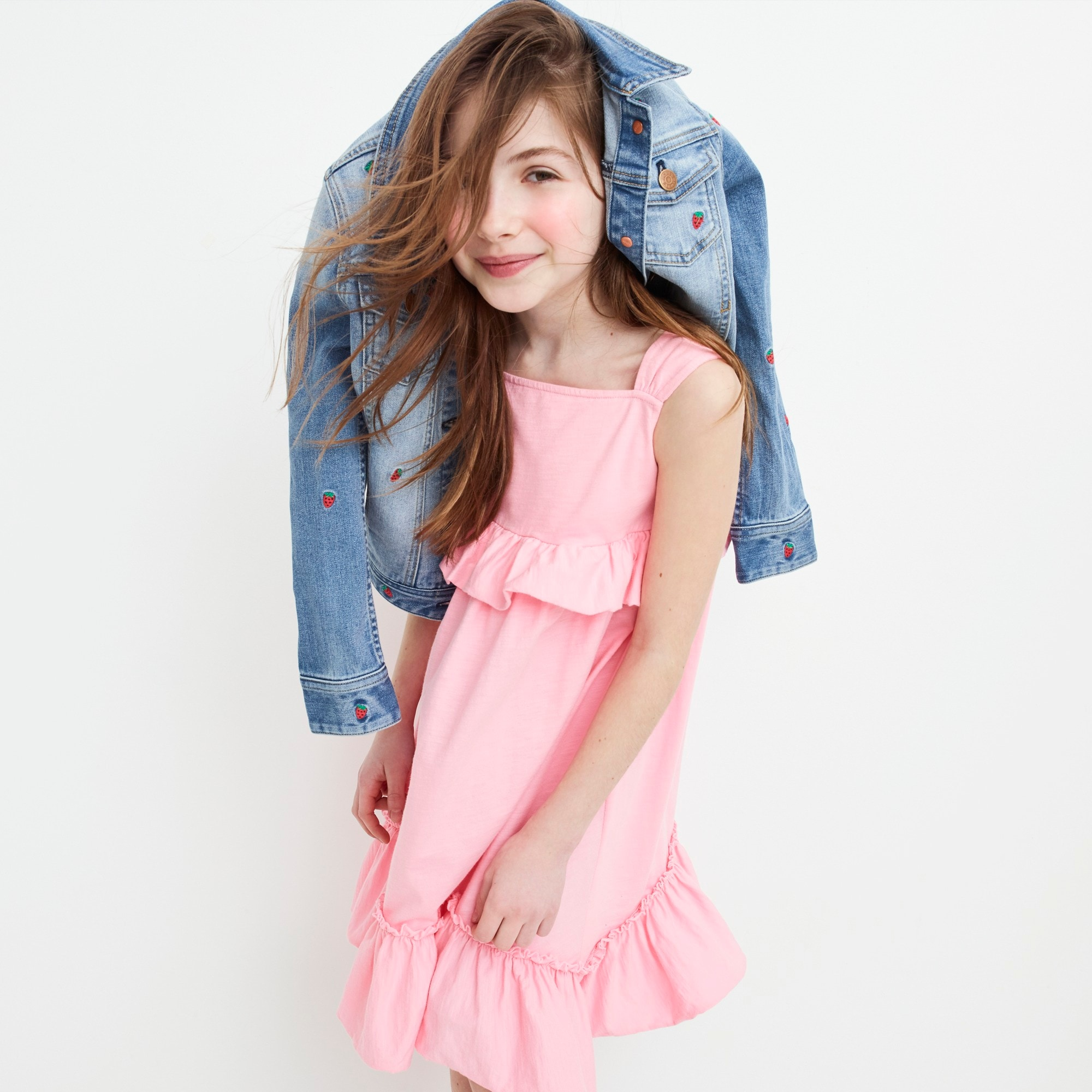 Girls' ruffle tank dress
