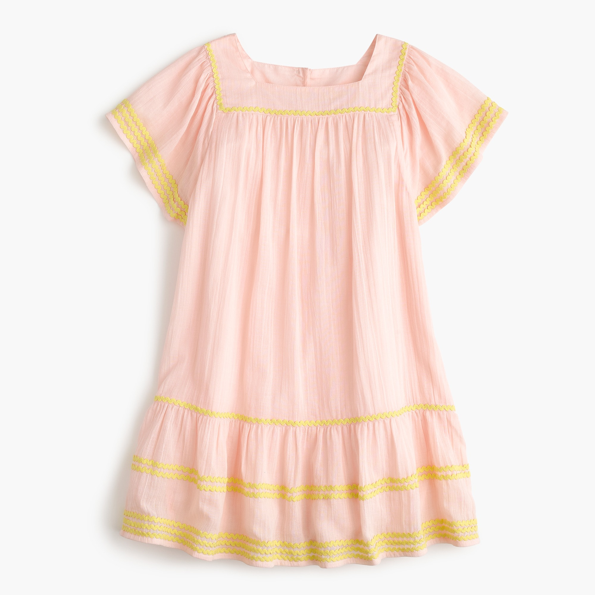 Girls' rickrack-trimmed dress