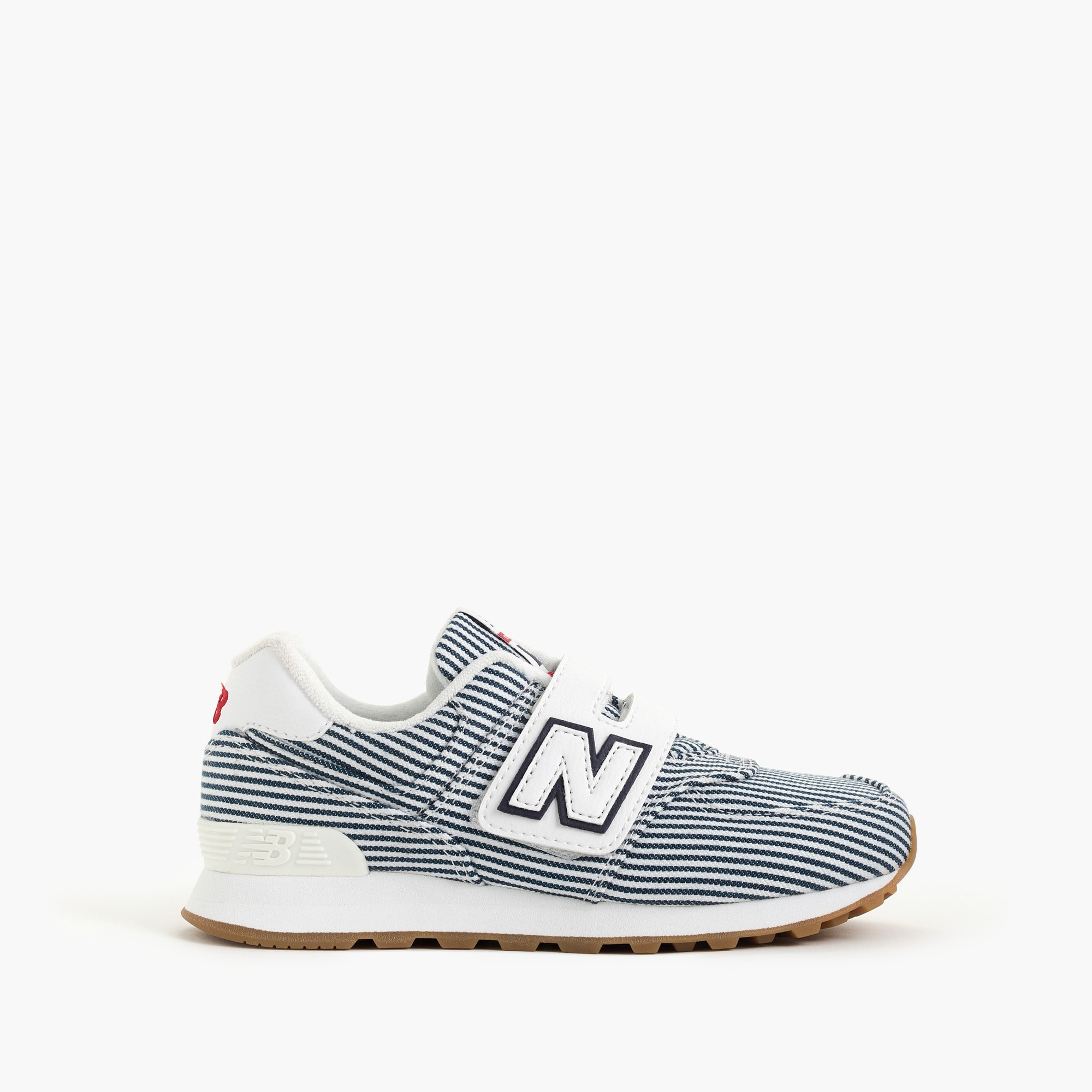 girls Kids' New Balance® for crewcuts 574 Velcro® sneakers in stripes