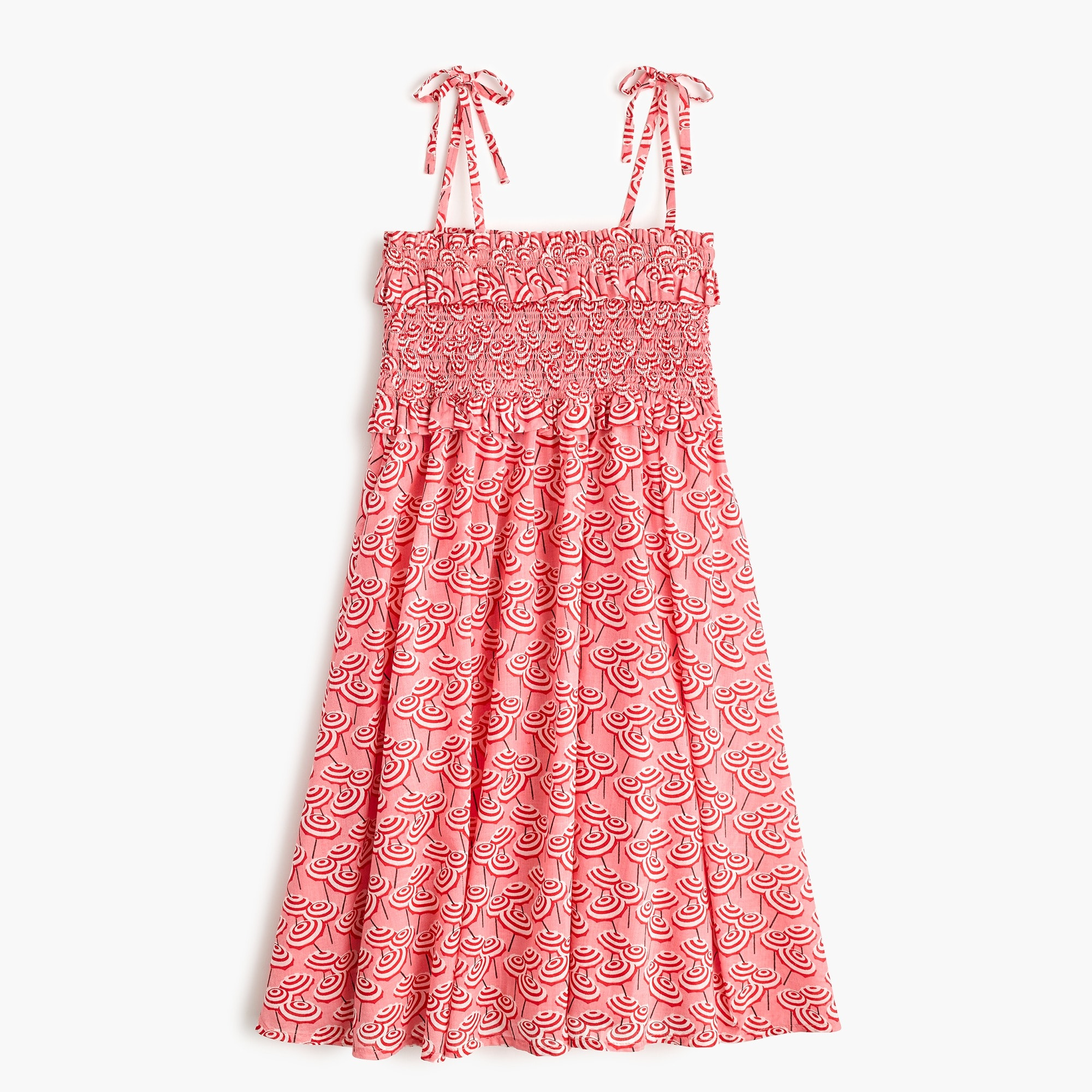 girls' smocked-bodice dress in umbrella print - girls' dresses