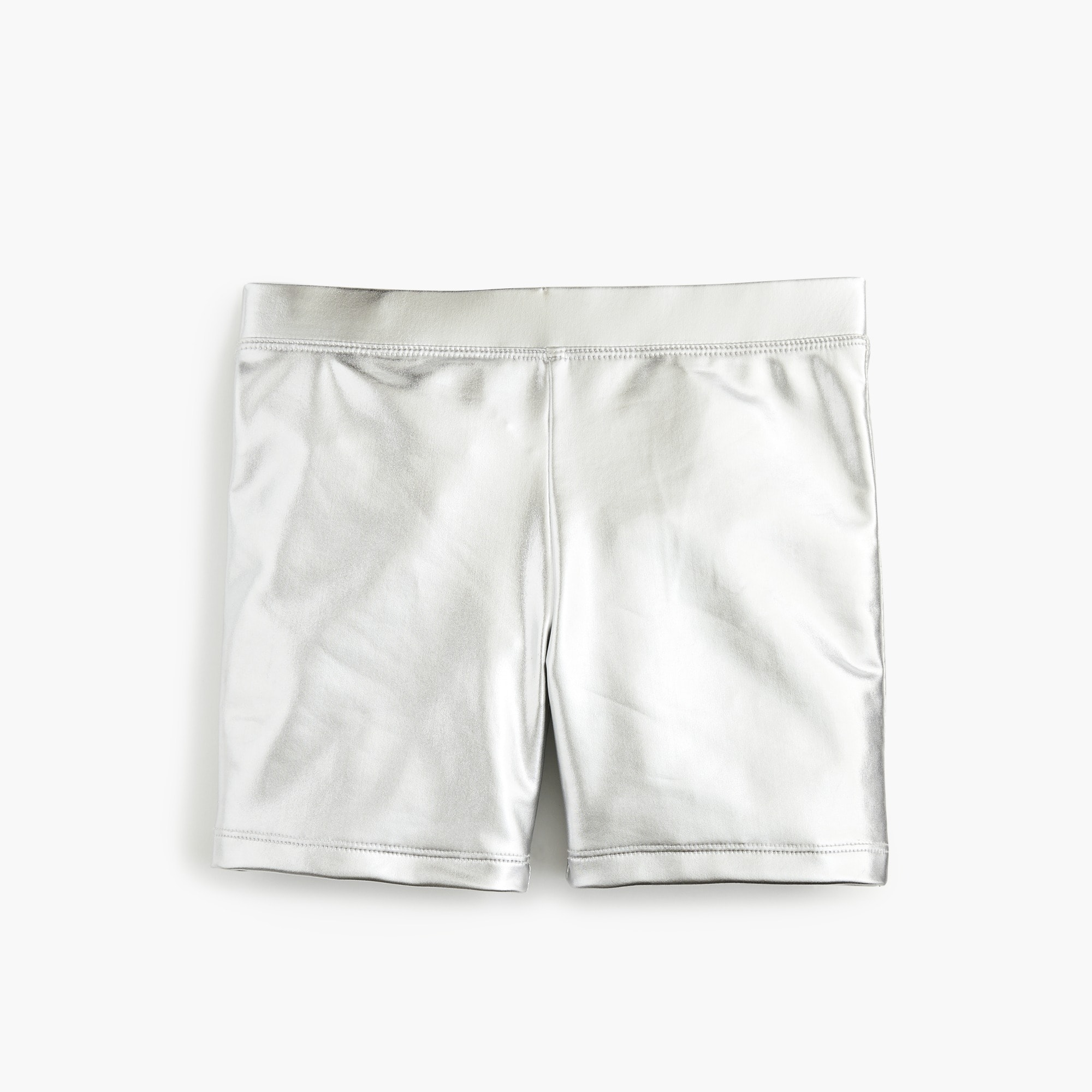 Girls' bike short in metallic girl new arrivals c