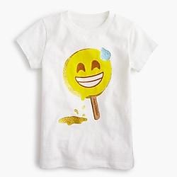 "Girls' ""just chilling"" emoji T-shirt"