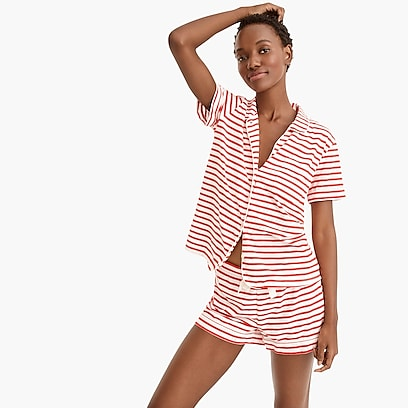 f57bd18f757a womens Dreamy short-sleeve cotton pajama set in stripe