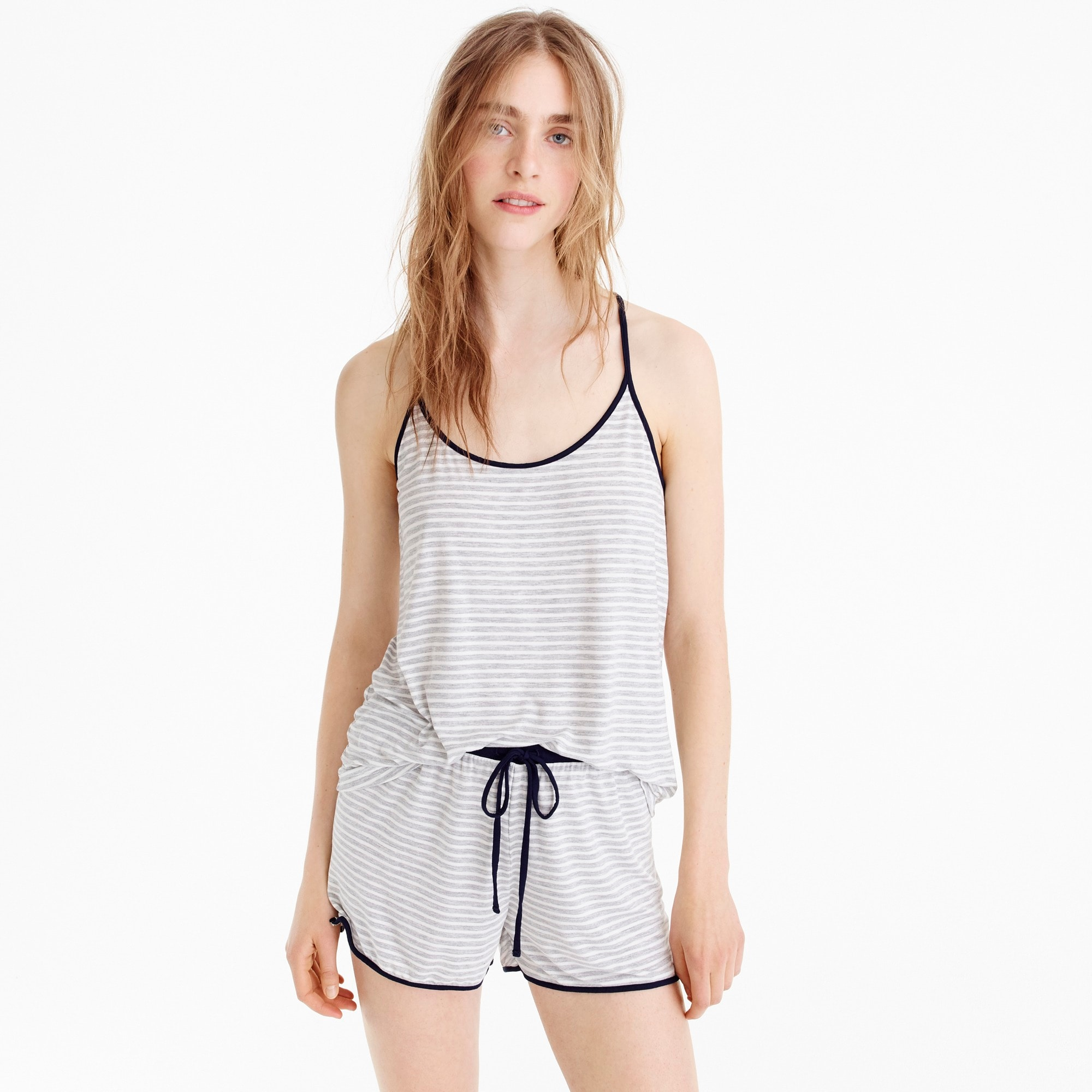 Cami short pajama set in stripe