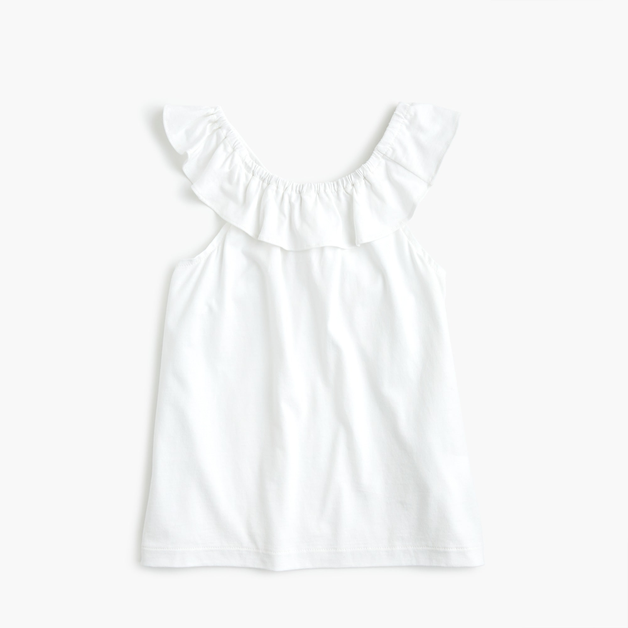girls Girls' ruffle-necked top