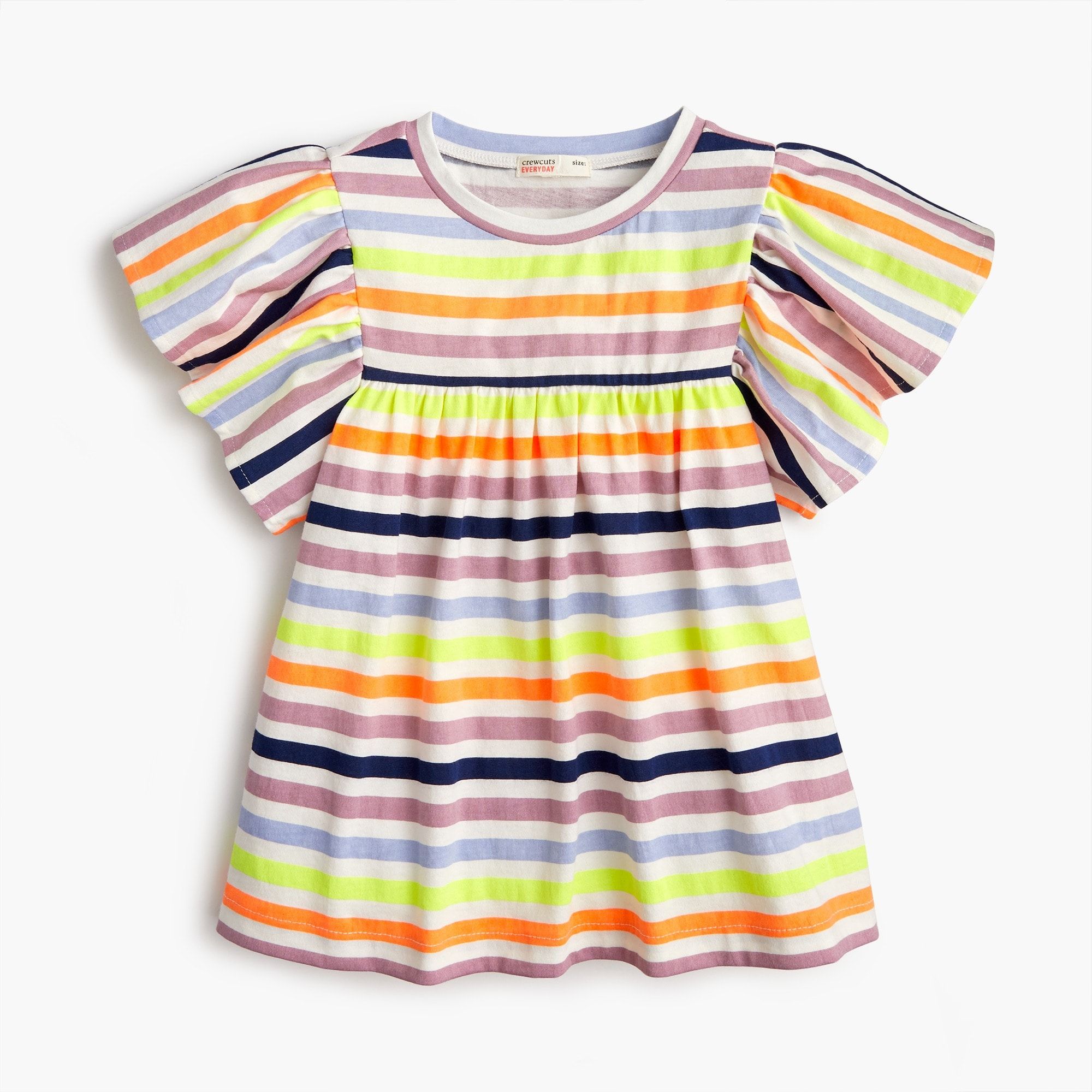 girls Girls' bell-sleeved T-shirt in stripes