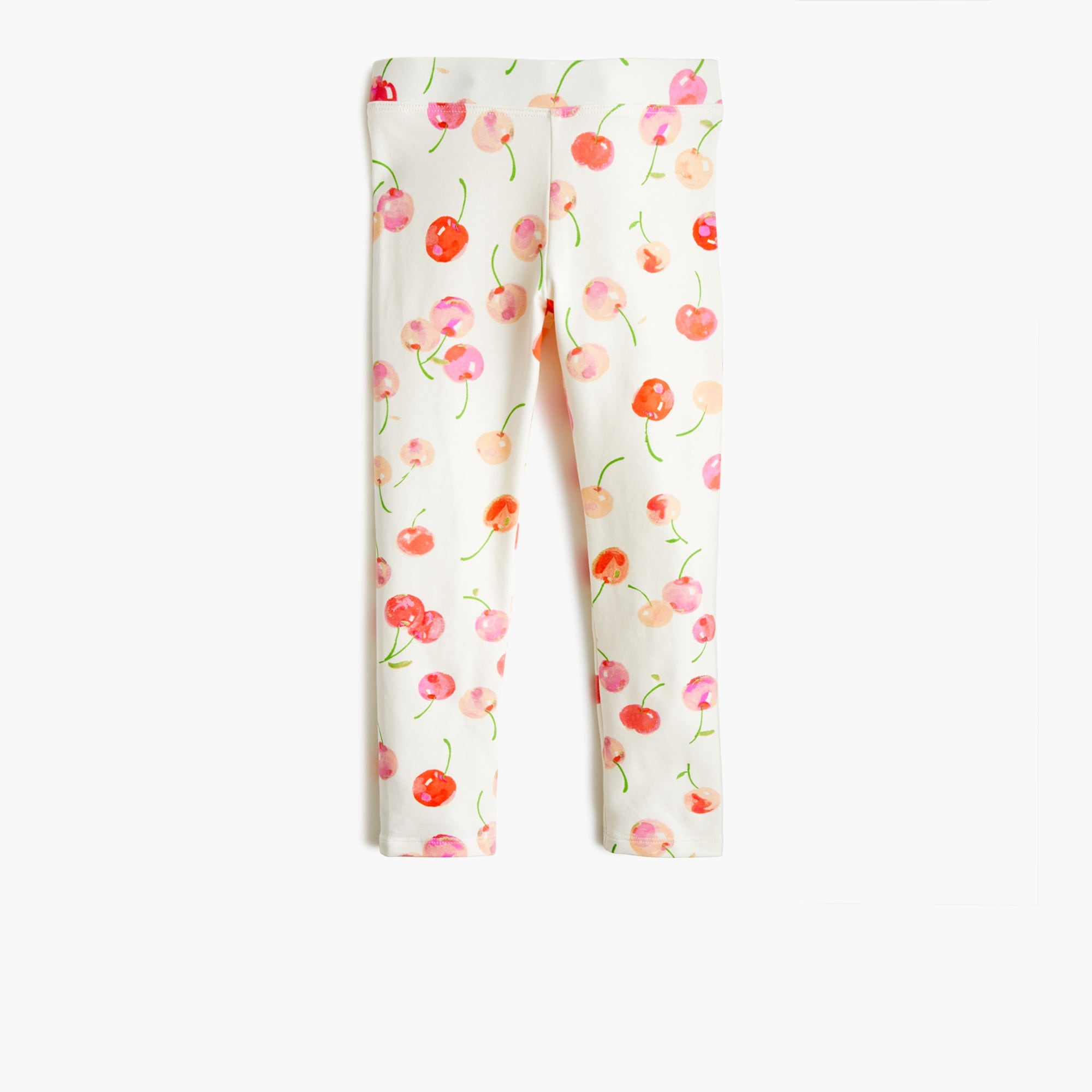 Girls' cropped everyday leggings in cherry print girl leggings c