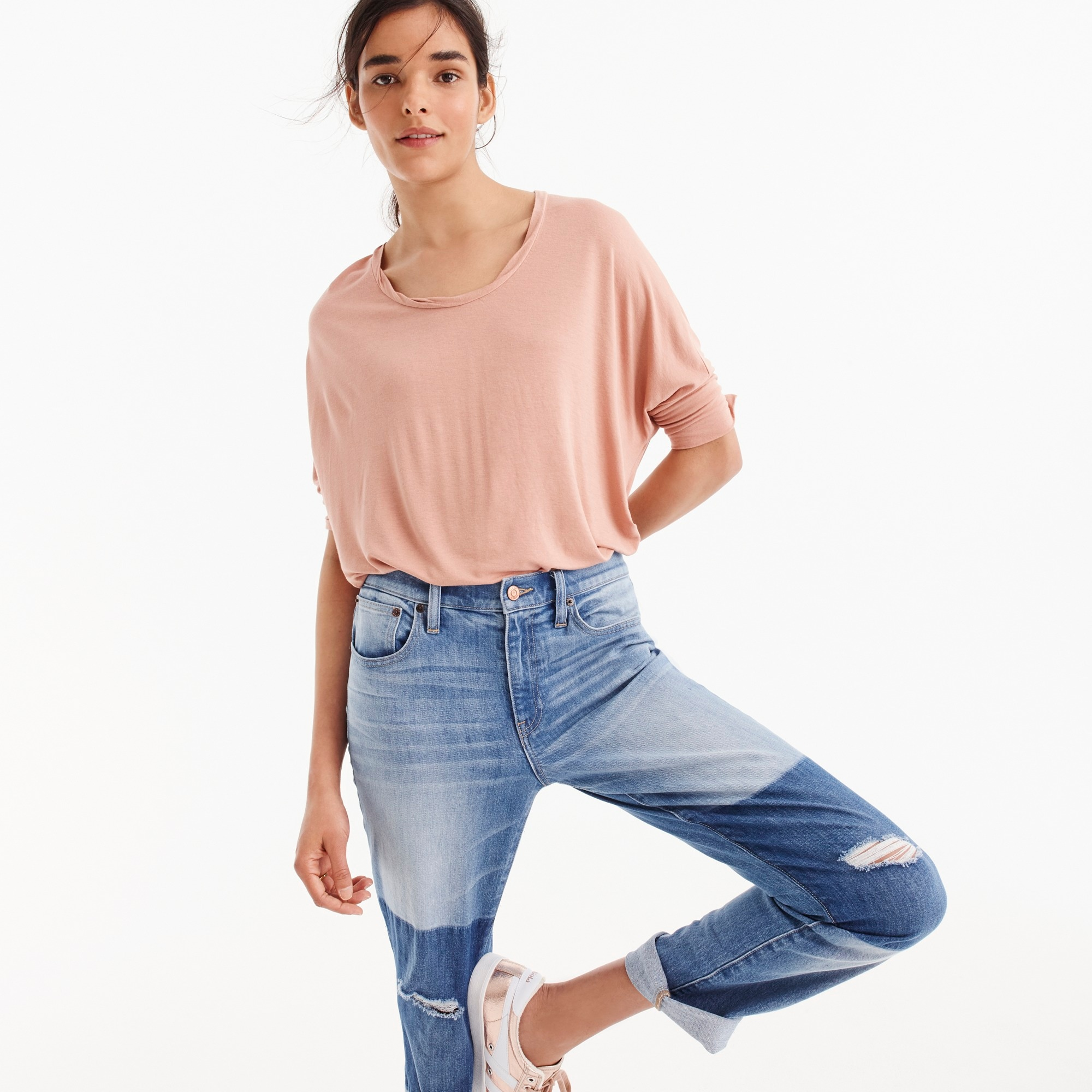 Dolman-sleeve top