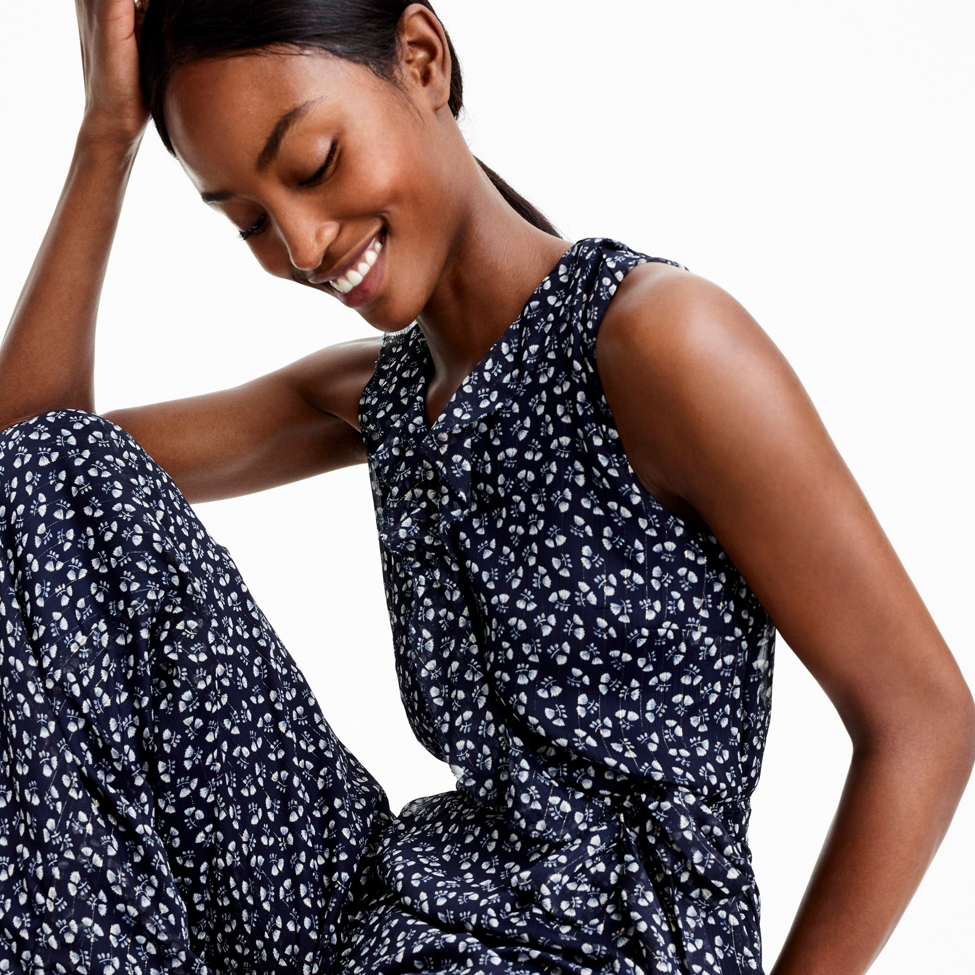 Point Sur sparkle jumpsuit in indigo floral women dresses c