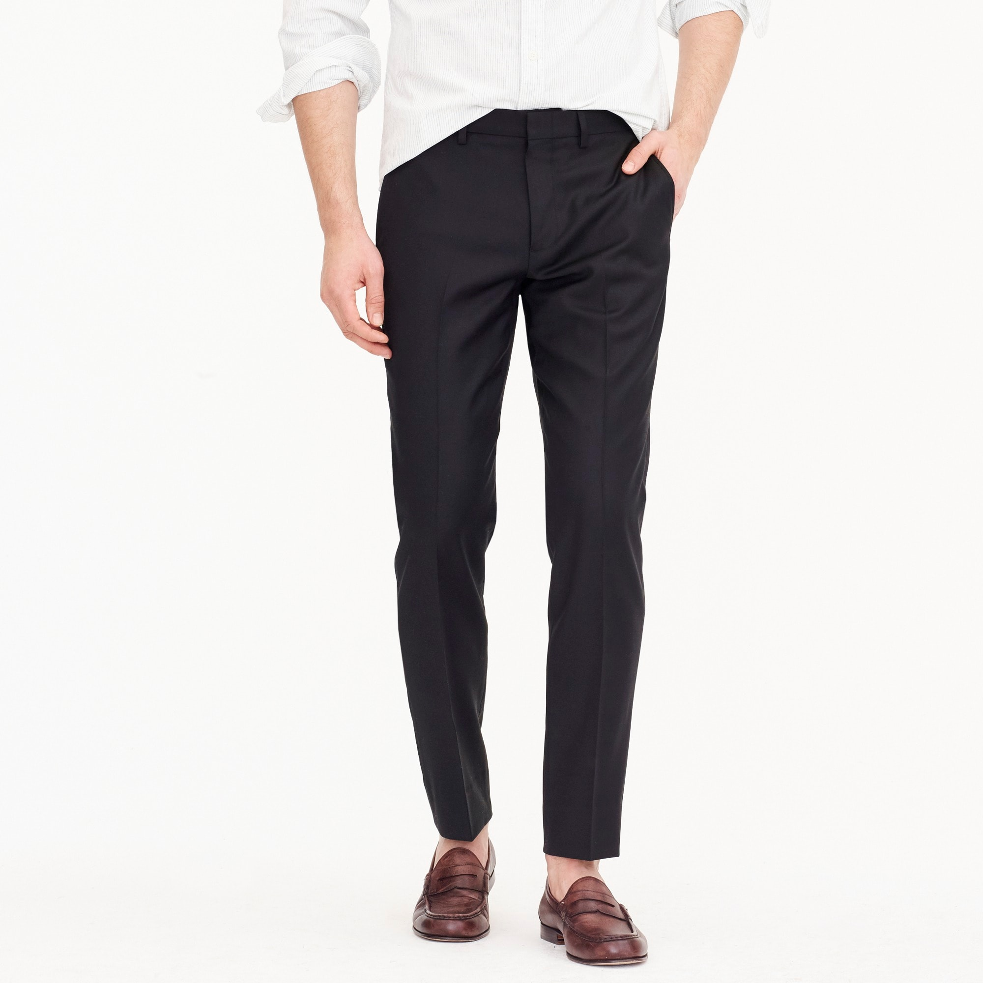 mens Ludlow Slim-fit stretch dress pant in four-season wool