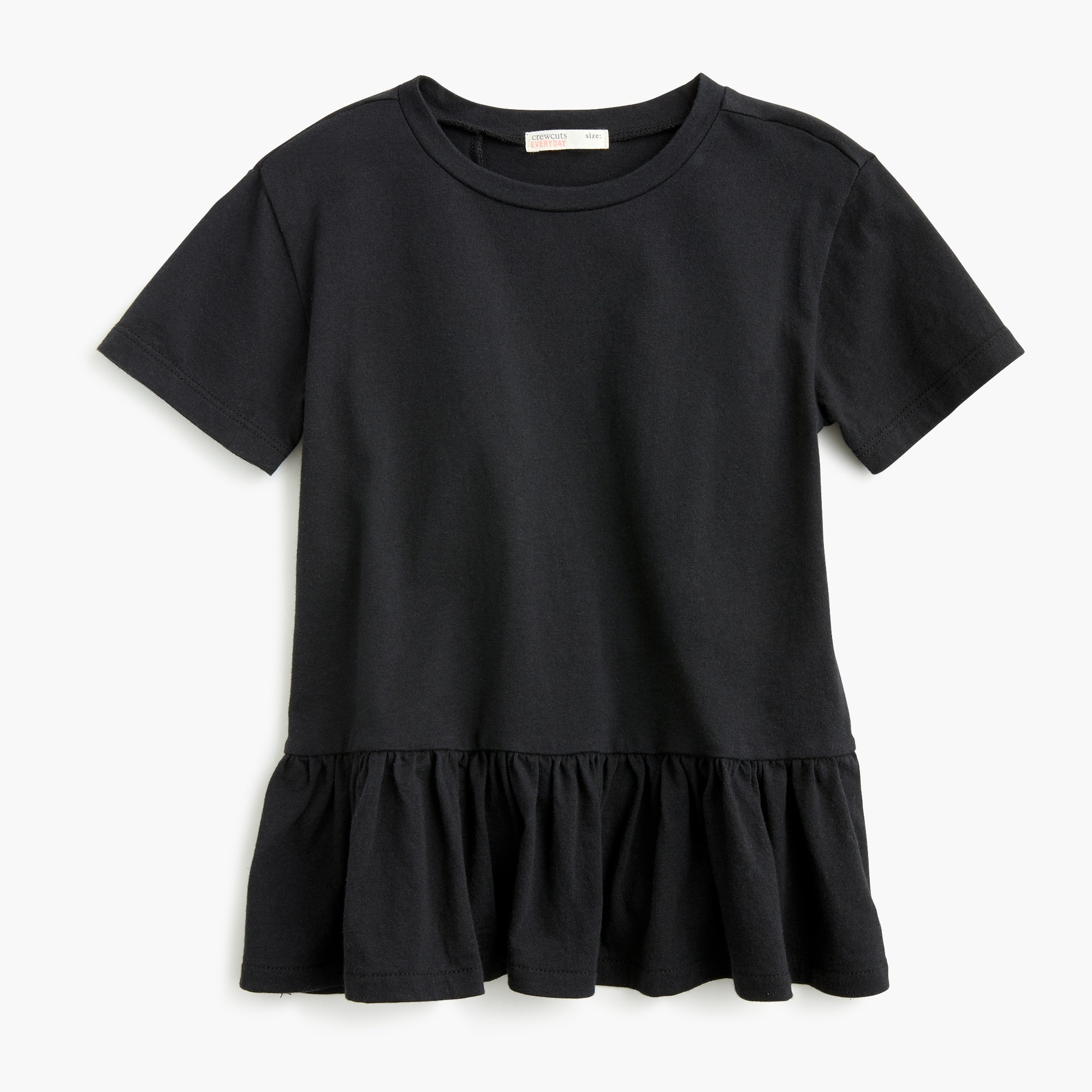 girls Girls' ruffle-back T-shirt