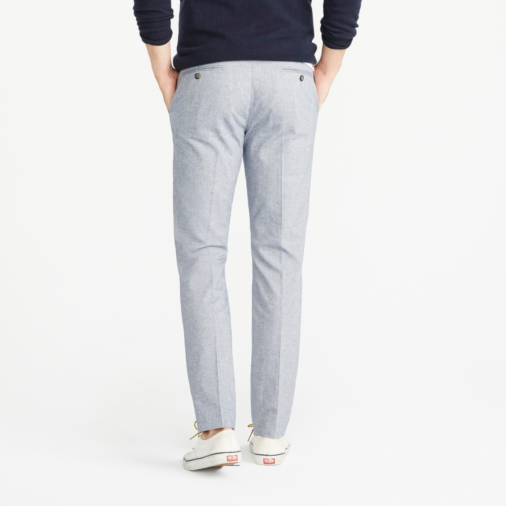 Image 4 for Ludlow Slim-fit stretch chambray pant in herringbone