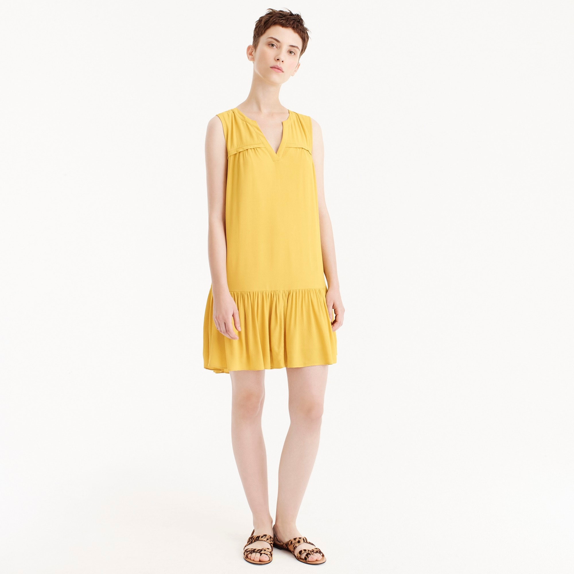 Tall ruffle-hem shift dress