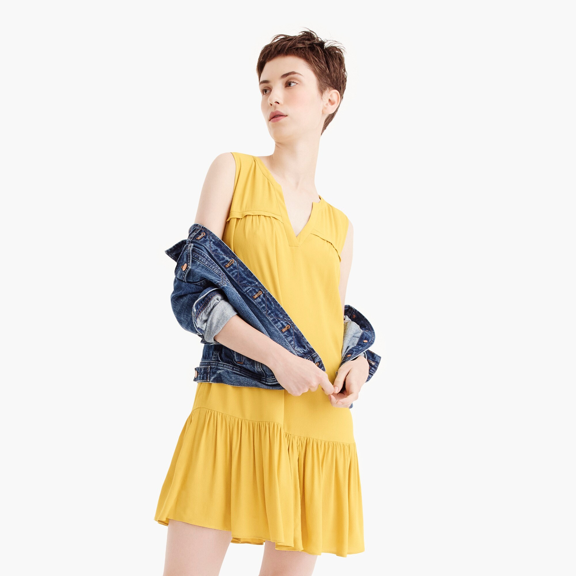 Image 2 for Tall ruffle-hem shift dress