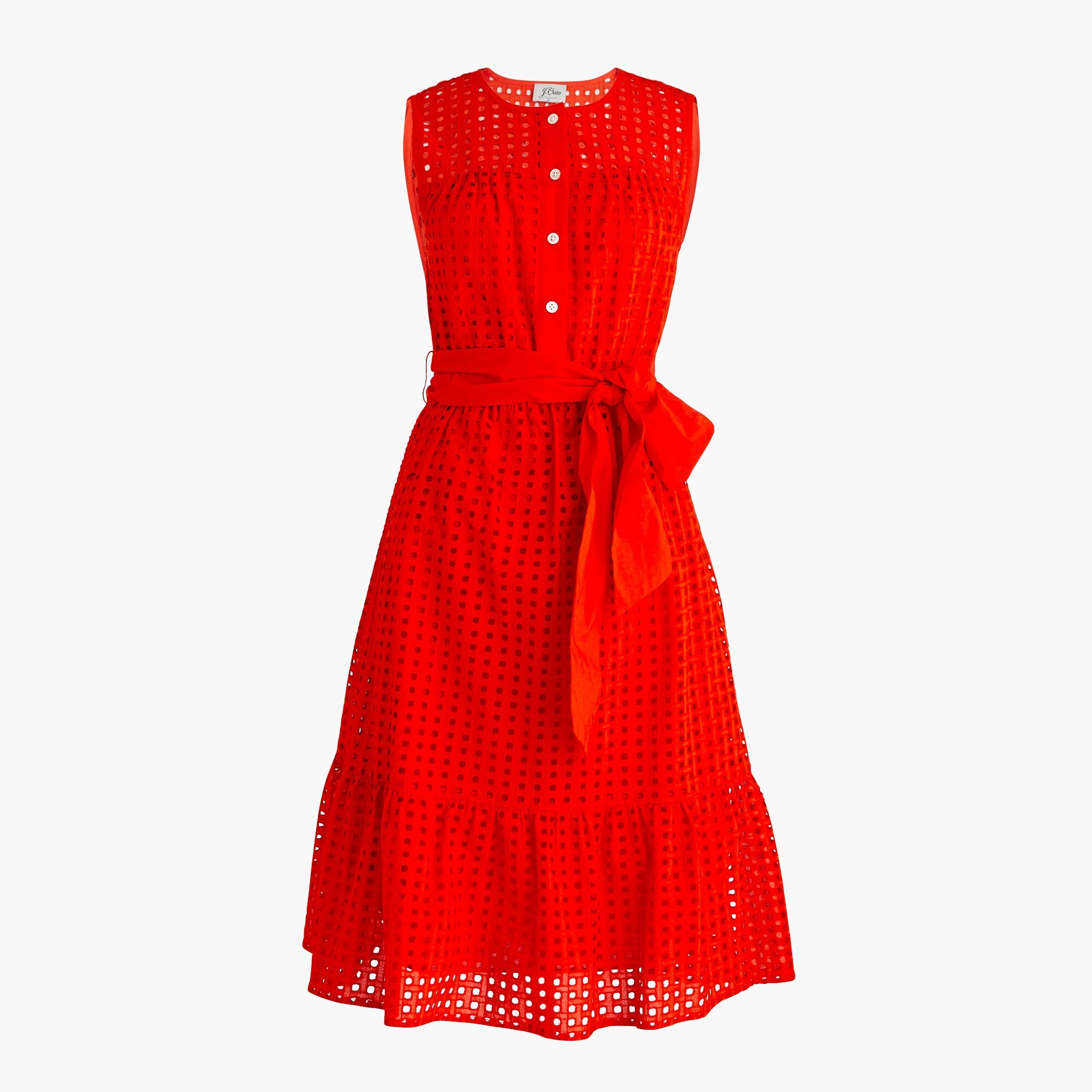 Petite all-over eyelet dress