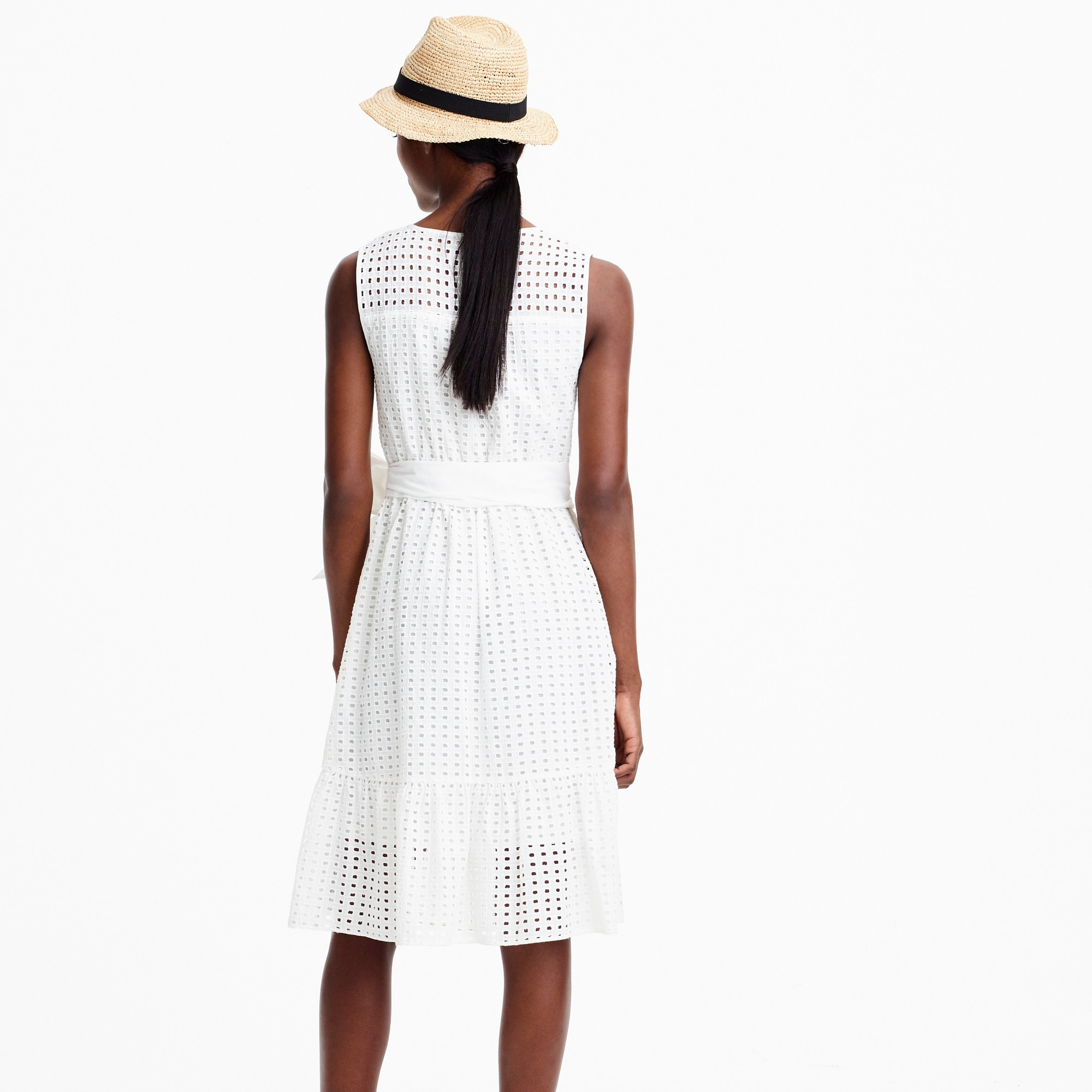 Image 4 for Petite all-over eyelet dress
