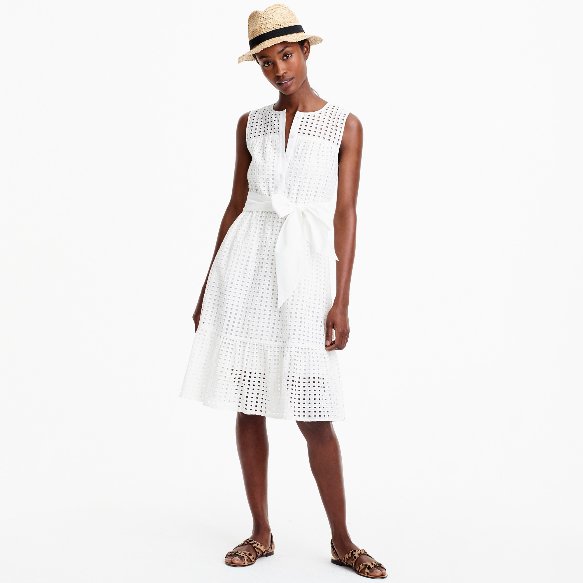 Image 2 for Petite all-over eyelet dress