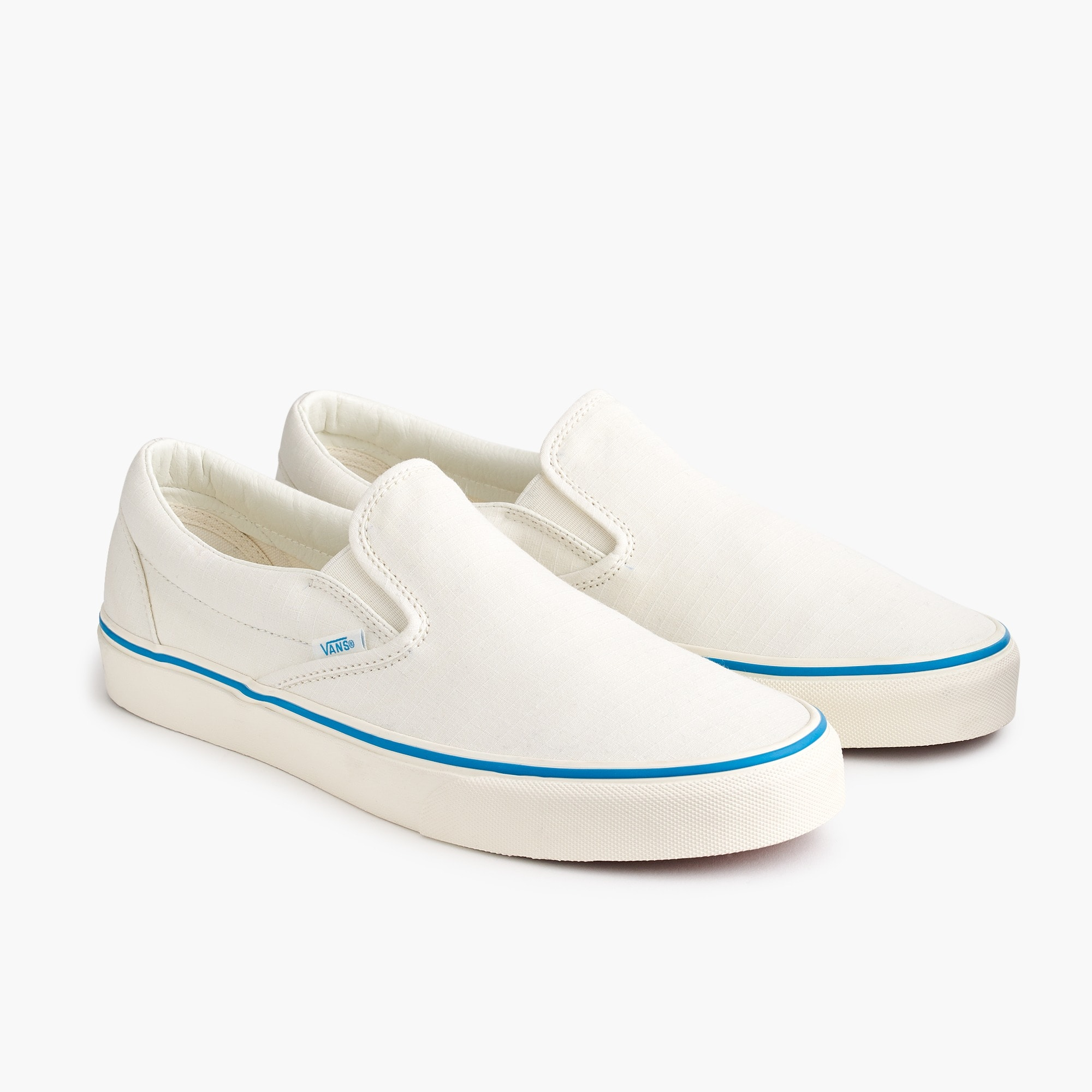 mens Vans® for J.Crew slip-on sneakers in ripstop cotton