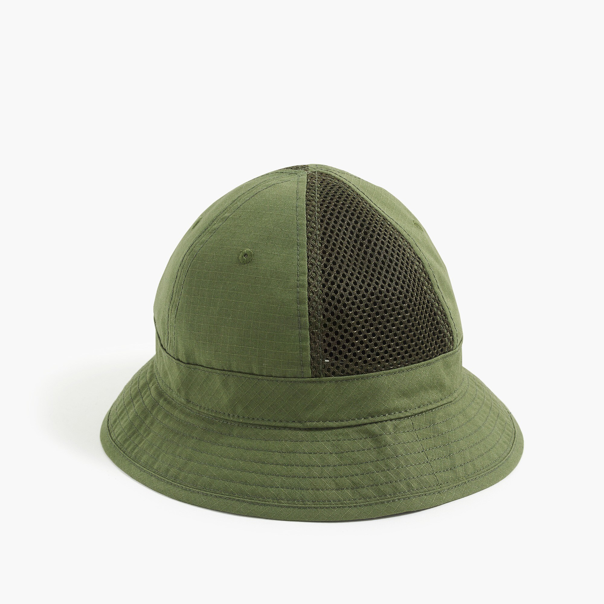 mens Mesh paneled bucket hat
