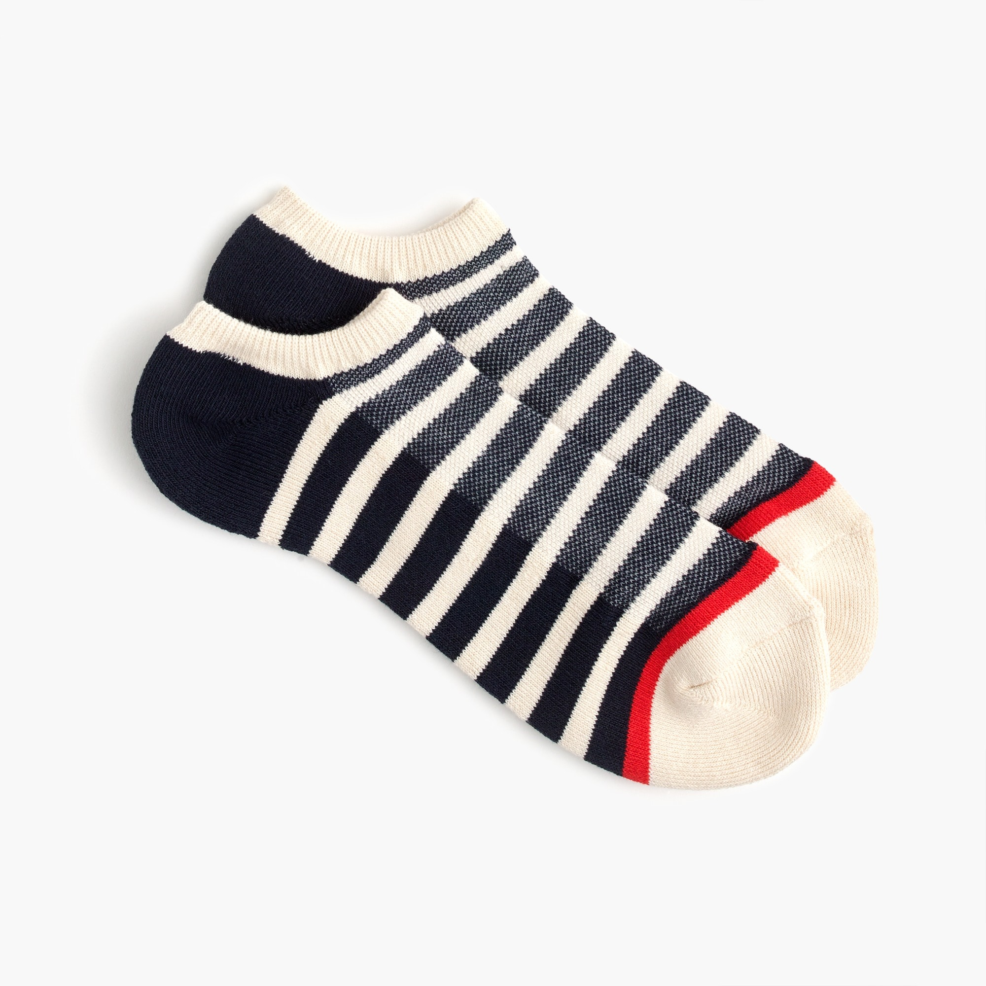 mens Striped athletic ankle socks