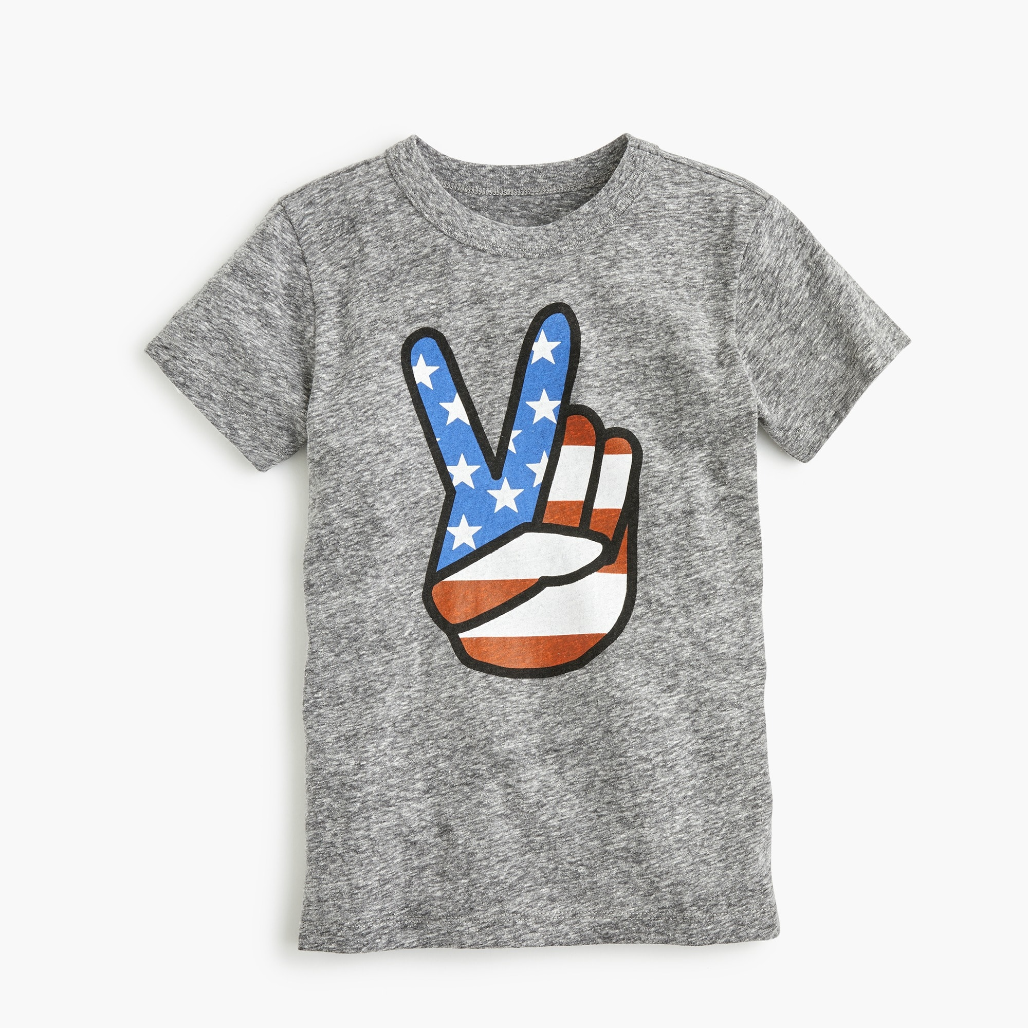 Boys' peace sign T-shirt boy new arrivals c