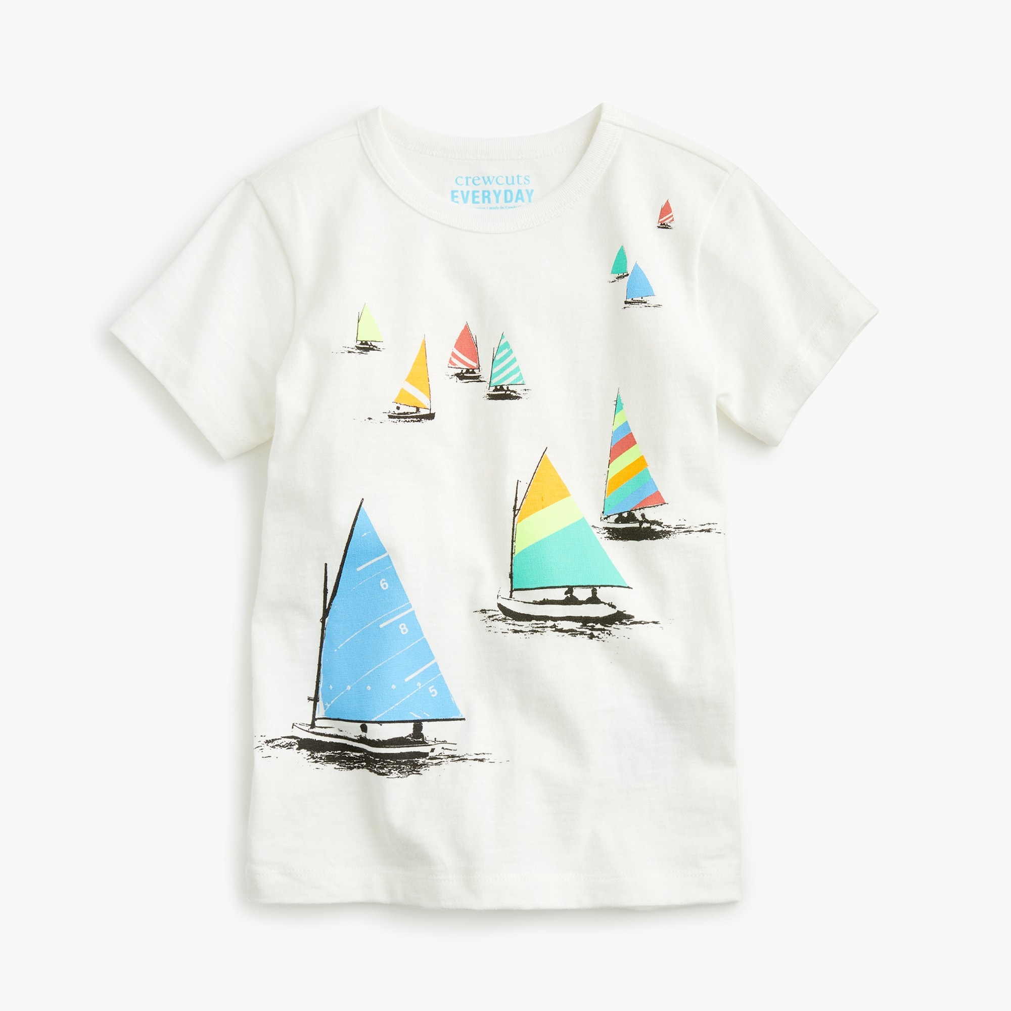 Boys' sailboats T-shirt boy t-shirts & polos c
