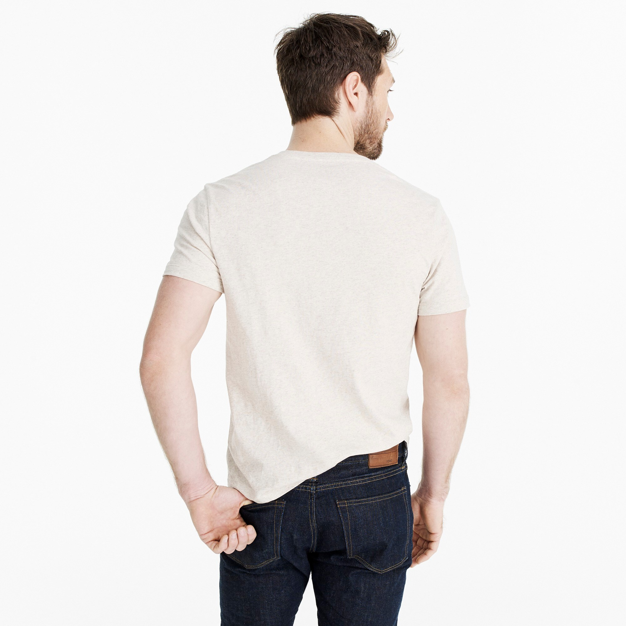 Image 2 for J.Crew Mercantile Broken-in heather V-neck T-shirt