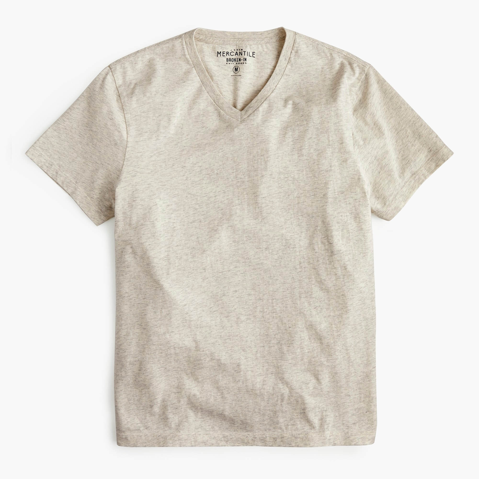 J.Crew Mercantile Broken-in heather V-neck T-shirt men t-shirts & polos c