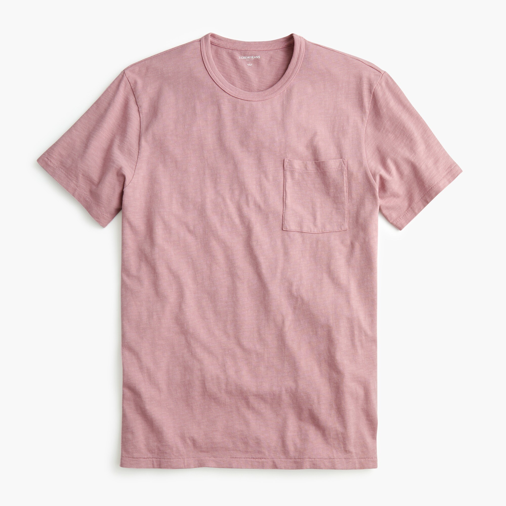 Image 1 for Tall garment-dyed slub cotton crewneck T-shirt