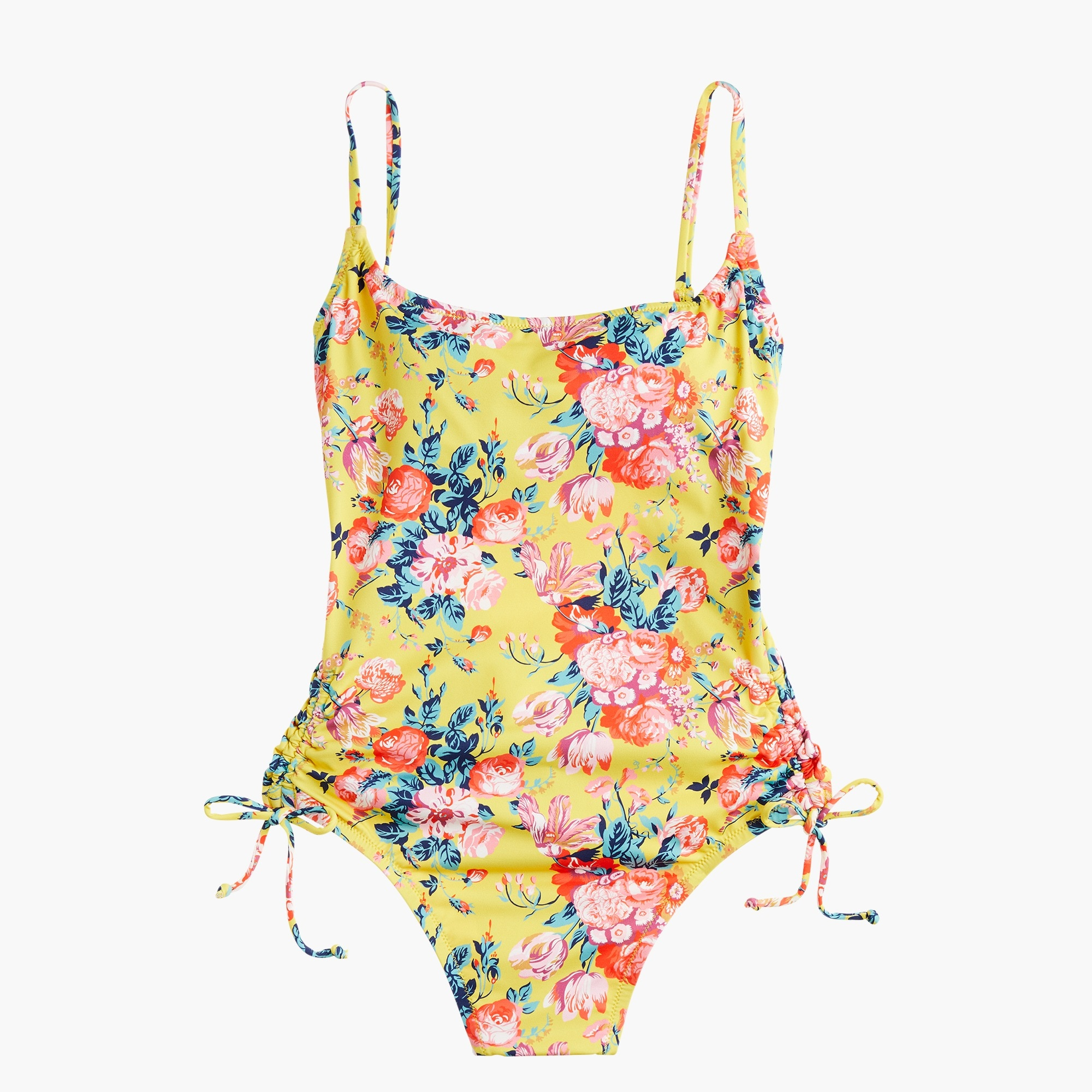 Image 4 for Ruched side one-piece swimsuit in Liberty® magical bouquet