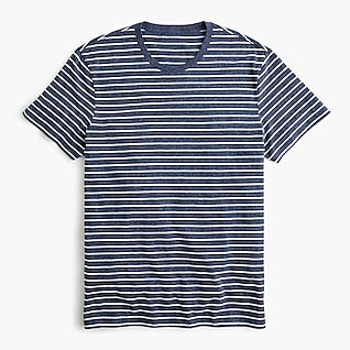 Essential T-shirt in blue heather stripe