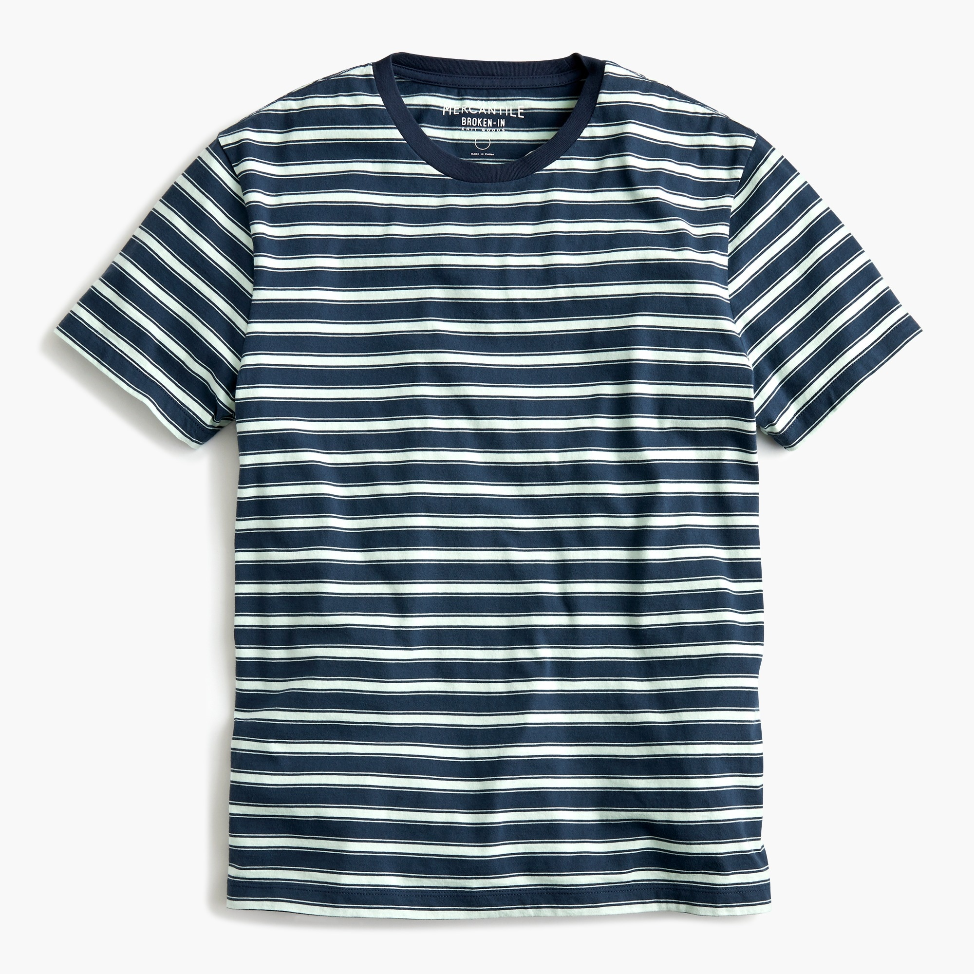 Tall J.Crew Mercantile Broken-in T-shirt in navy stripe