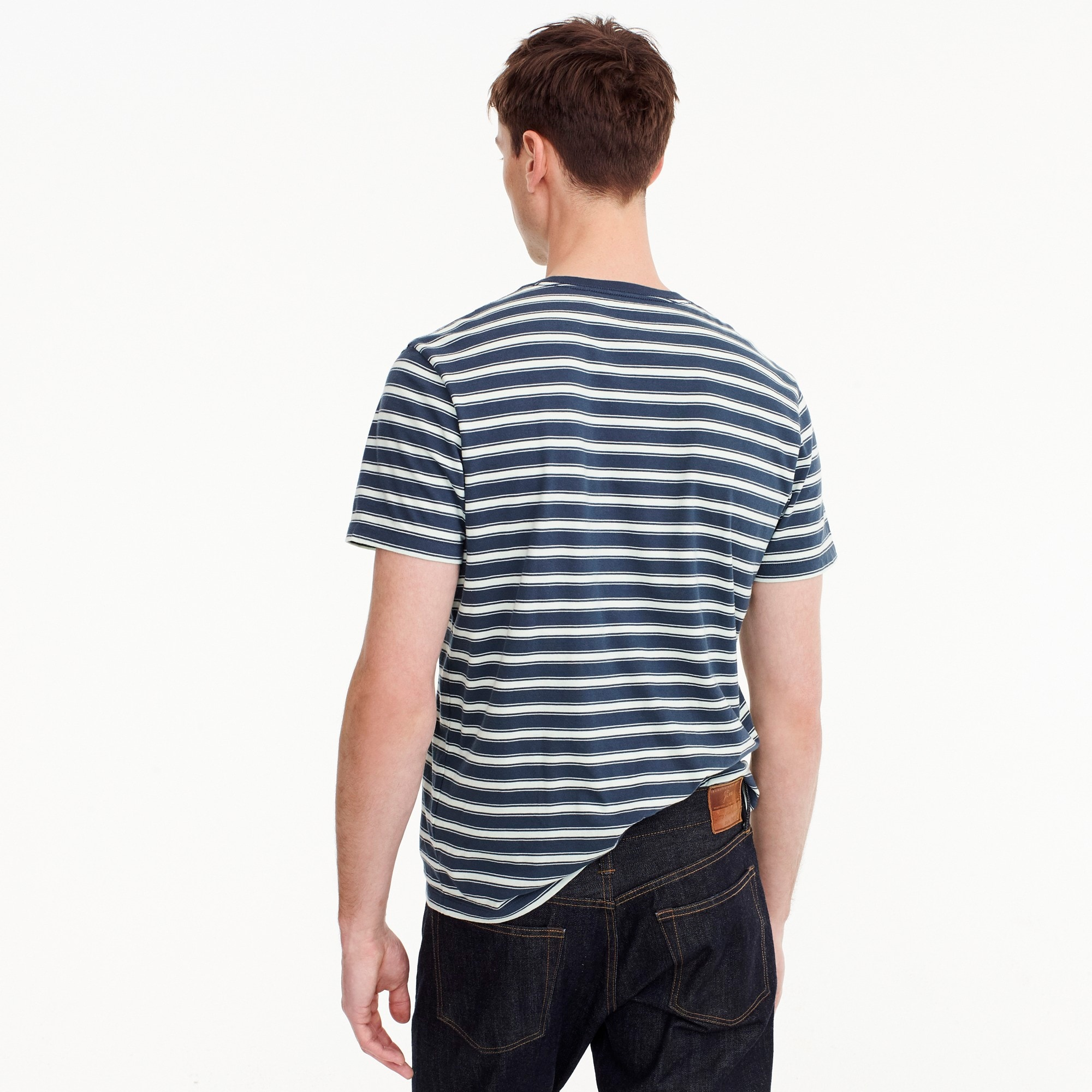 Image 3 for Tall J.Crew Mercantile Broken-in T-shirt in navy stripe