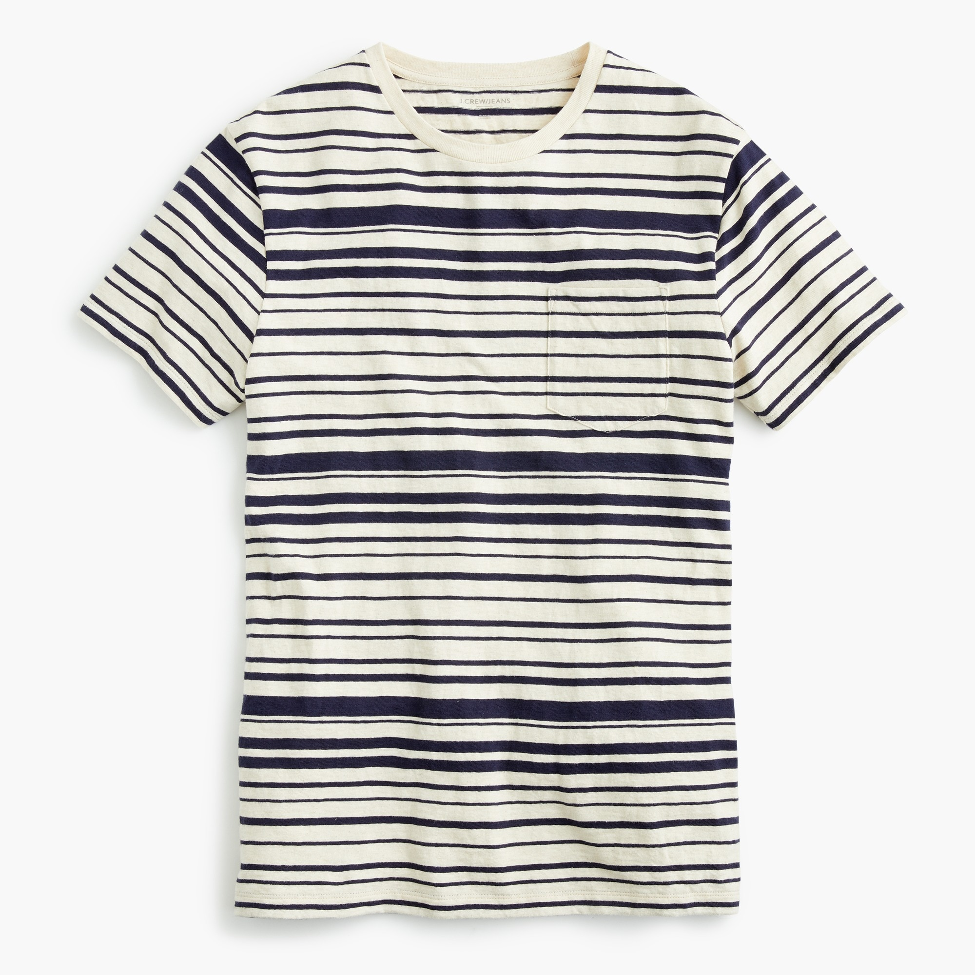men's tall j.crew jeans slub cotton t-shirt in variegated stripe - men's knits