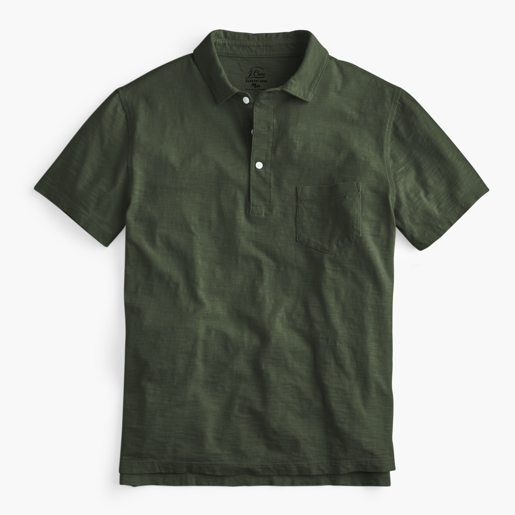 mens Tall garment-dyed slub cotton polo