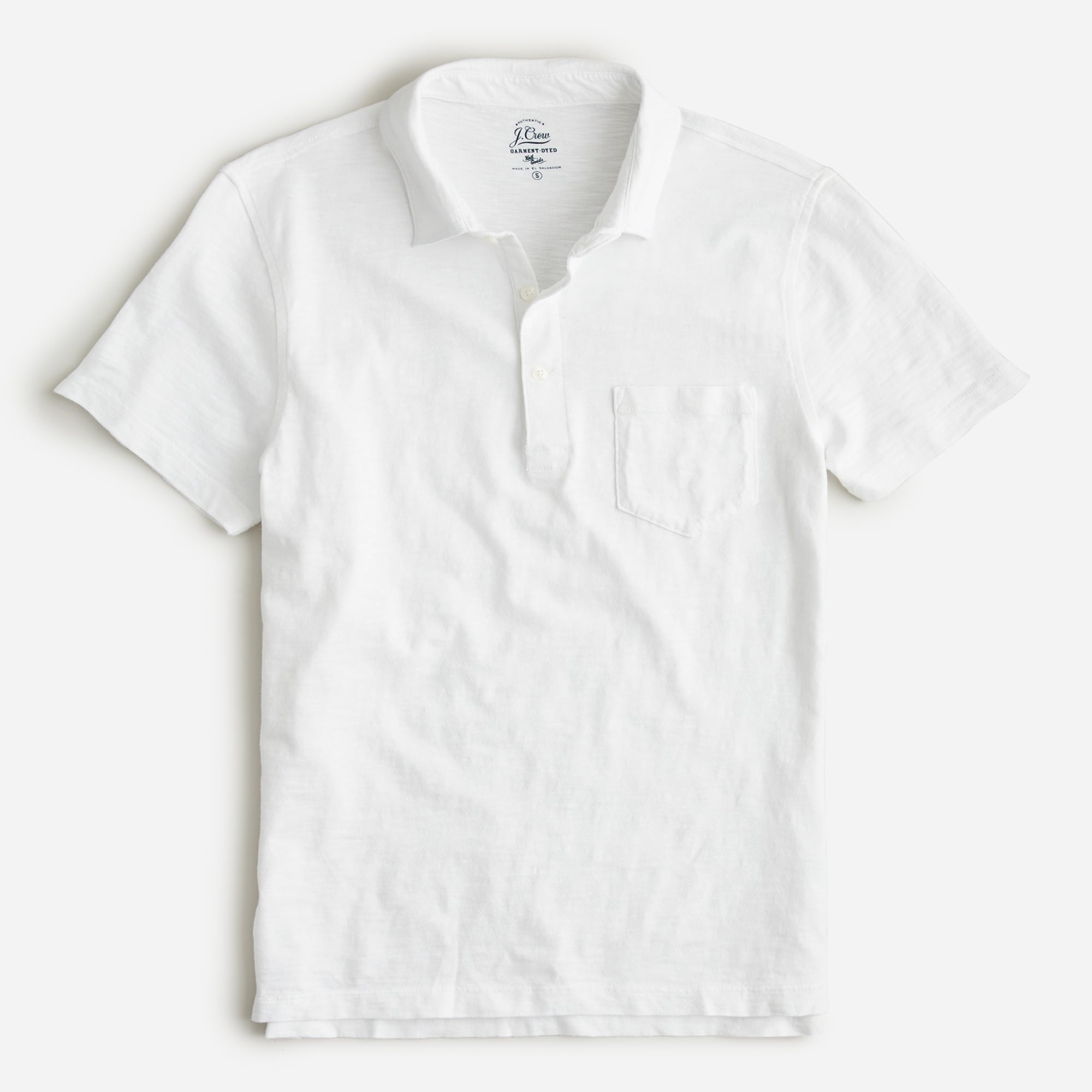 Garment-dyed slub cotton polo men t-shirts & polos c