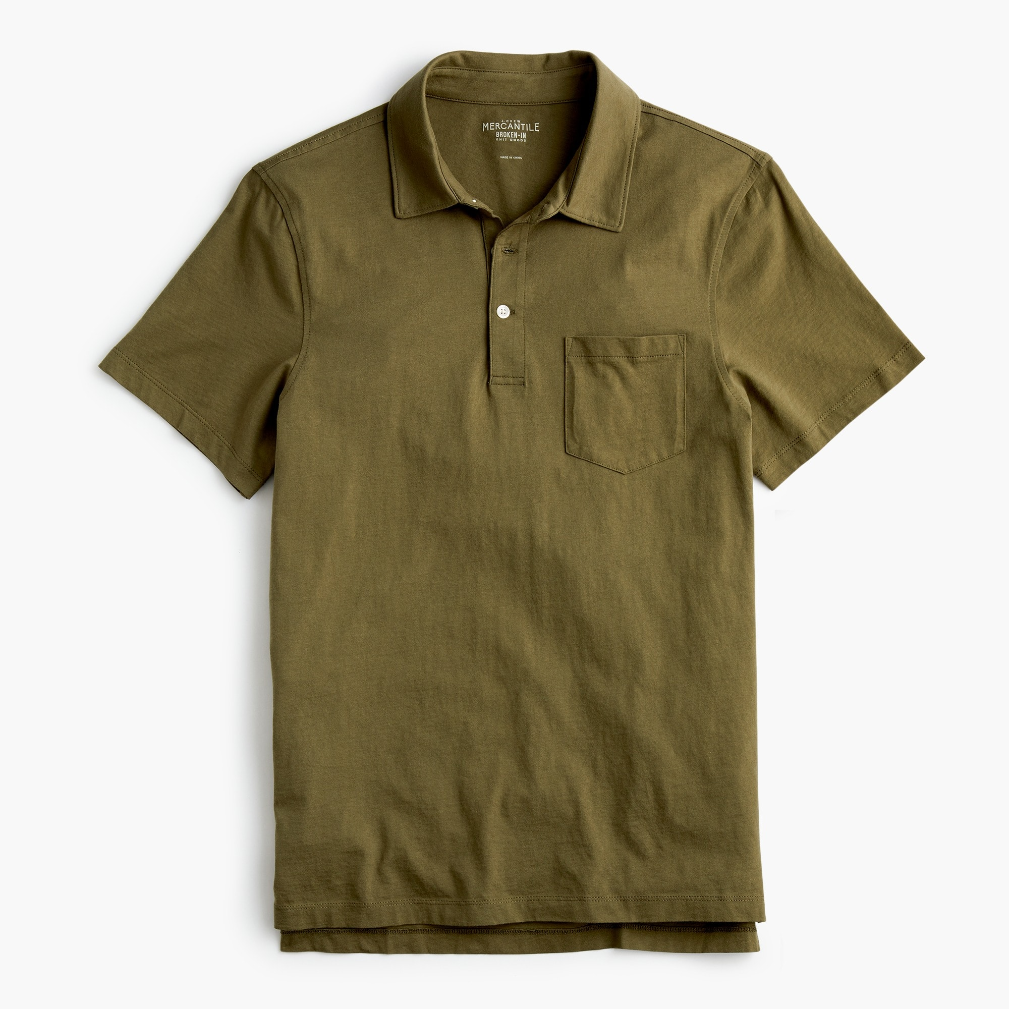 J.Crew Mercantile Broken-in pocket polo shirt men t-shirts & polos c