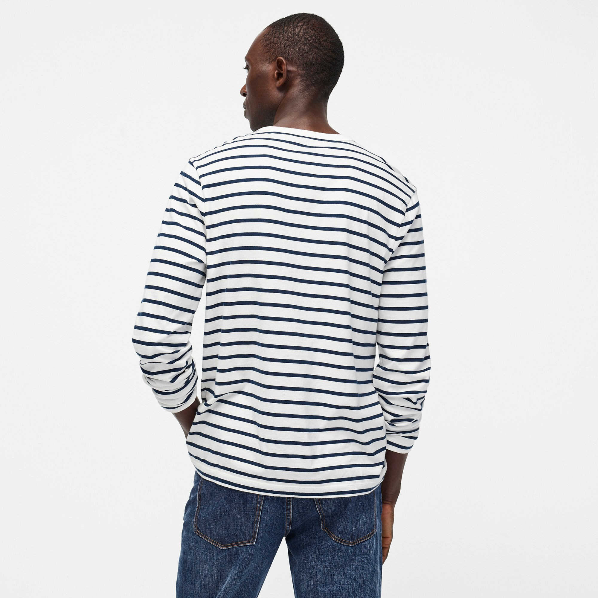 Image 3 for Tall J.Crew Mercantile Broken-in long-sleeve T-shirt in deck stripe