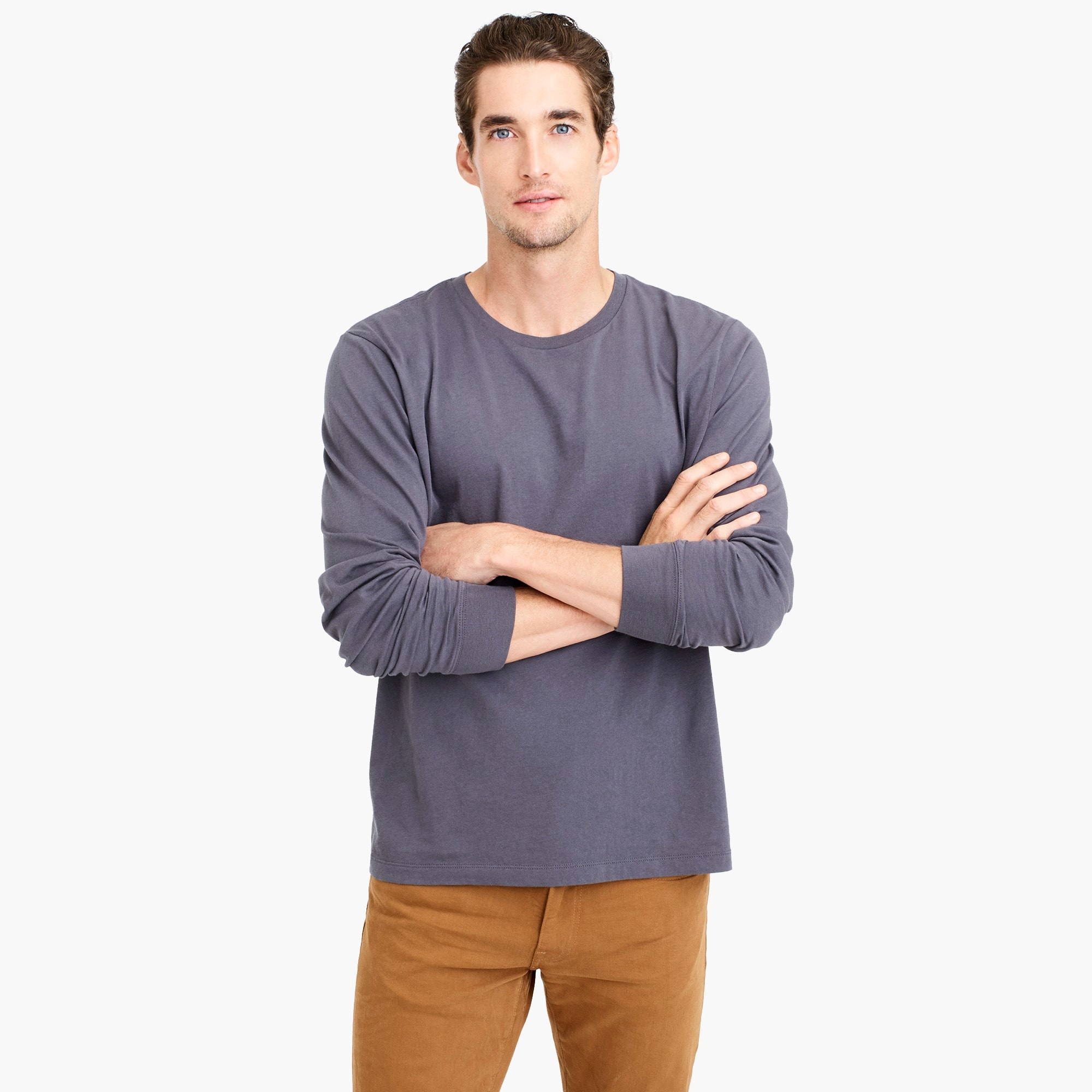 men's j.crew mercantile broken-in long-sleeve t-shirt - men's knits